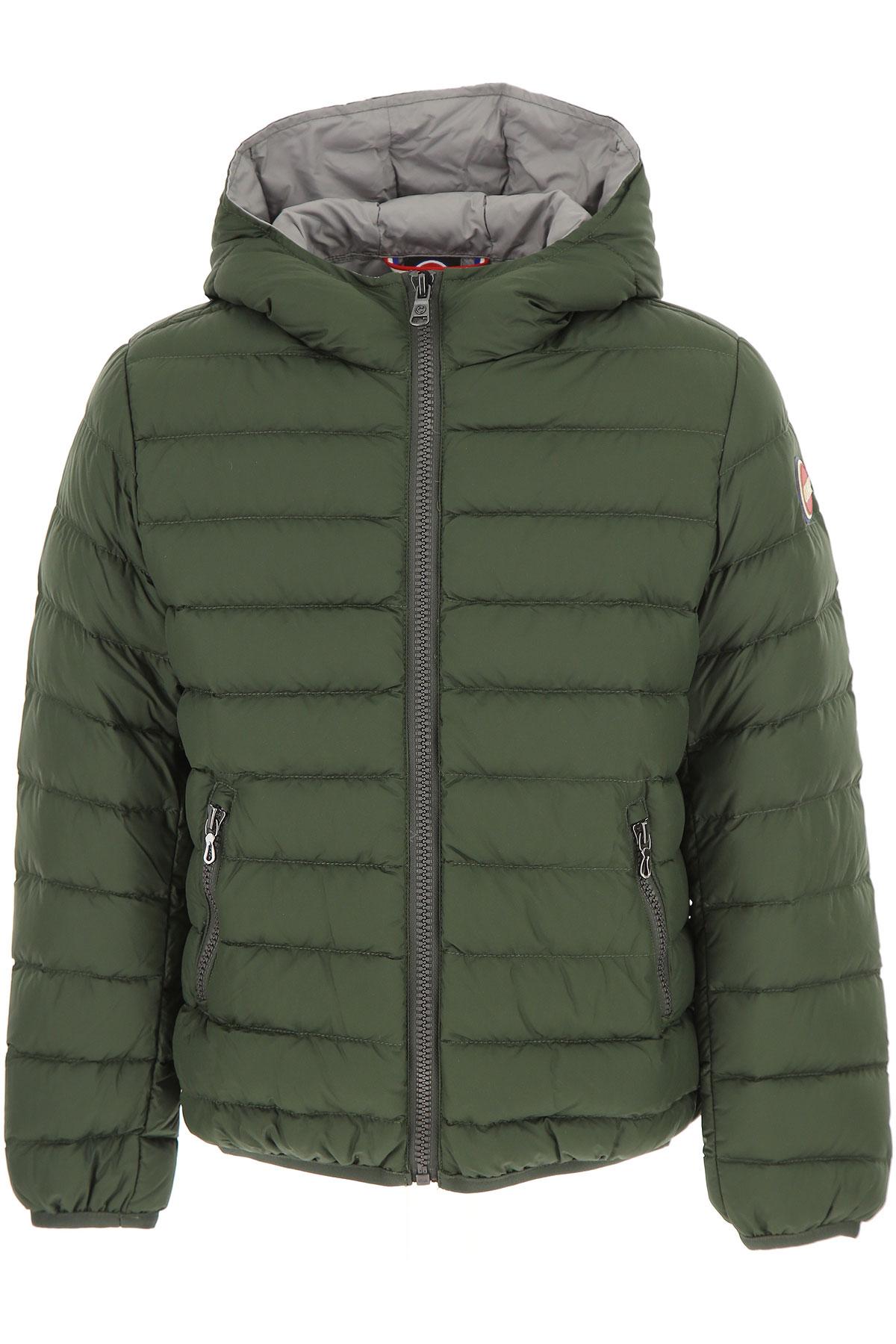 Image of Colmar Boys Down Jacket for Kids, Puffer Ski Jacket, Green, polyester, 2017, 10Y 14Y 16Y 6Y 8Y