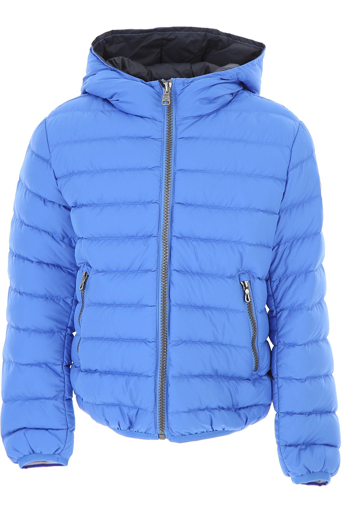 Image of Colmar Boys Down Jacket for Kids, Puffer Ski Jacket, Light Blue, polyester, 2017, 10Y 4Y 6Y 8Y