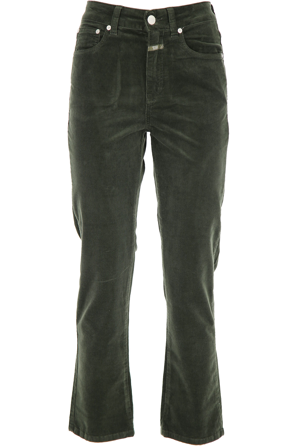 Closed Pants for Women On Sale, Caper Green, Cotton, 2019, 25 26 29 31