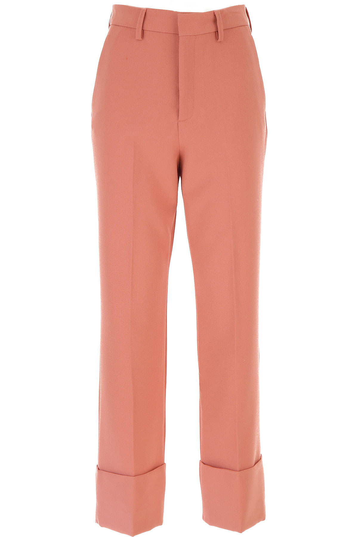 Closed Pants for Women On Sale, Salmon Pink, polyester, 2019, 26 27 28