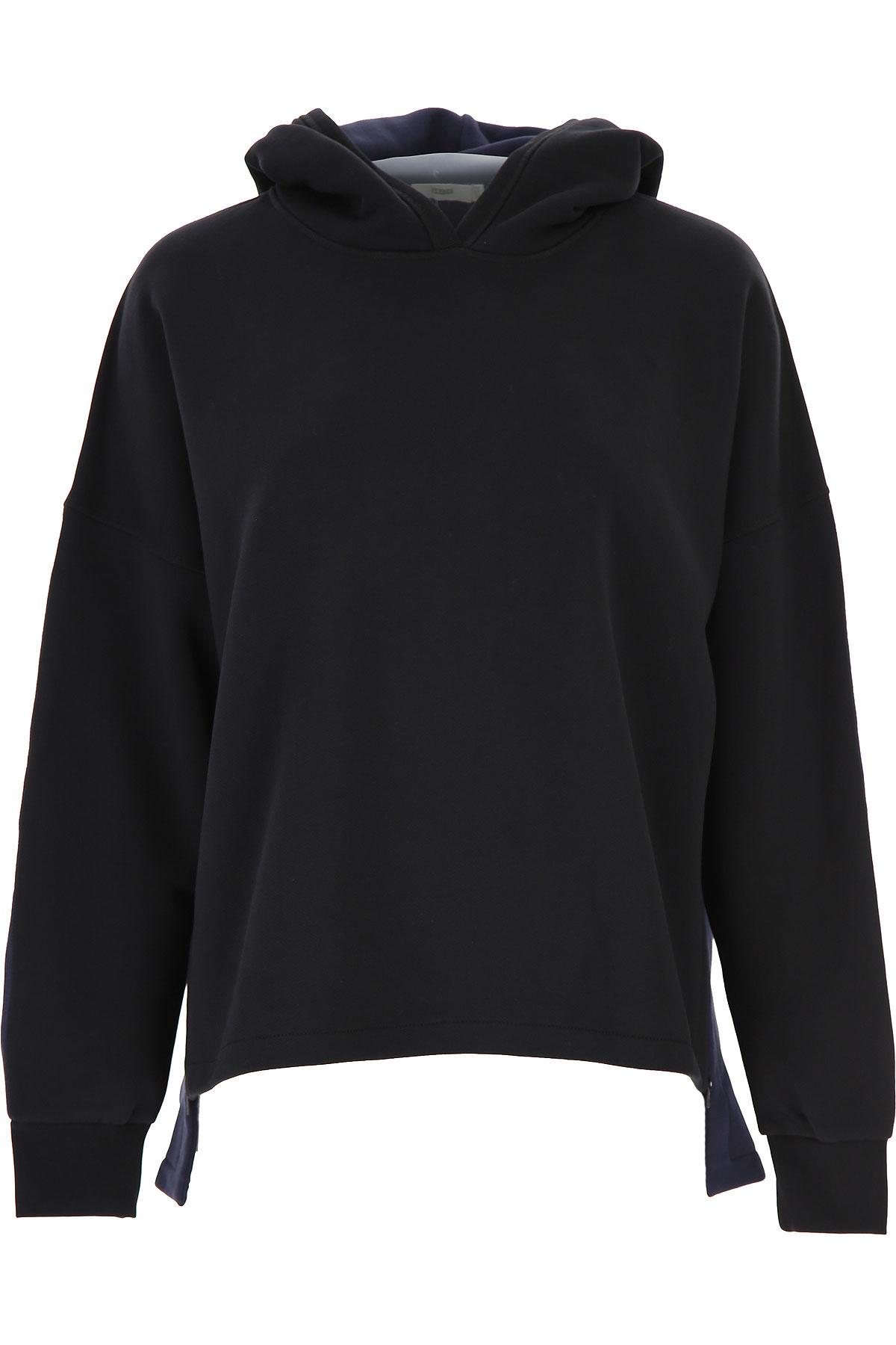 Closed Sweatshirt for Women On Sale, Black, Cotton, 2019, 2 4