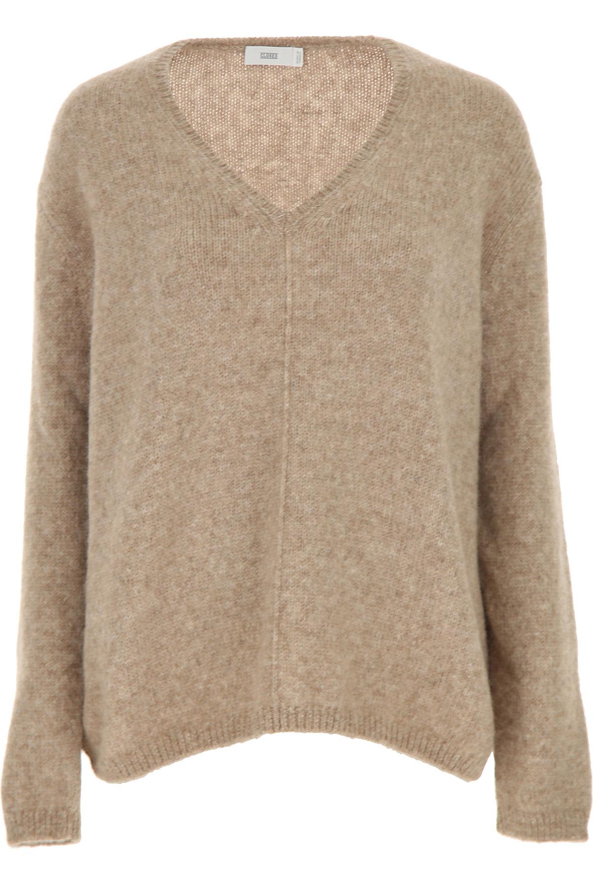 Closed Sweater for Women Jumper On Sale, Beige, alpaca, 2019, 2 4 6