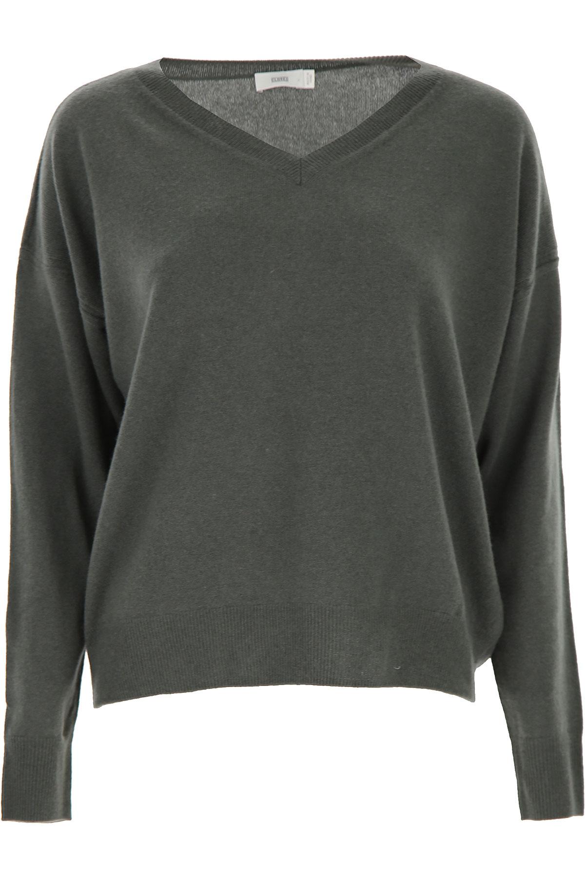 Closed Sweater for Women Jumper On Sale, Caper Green, Wool, 2019, 4 6