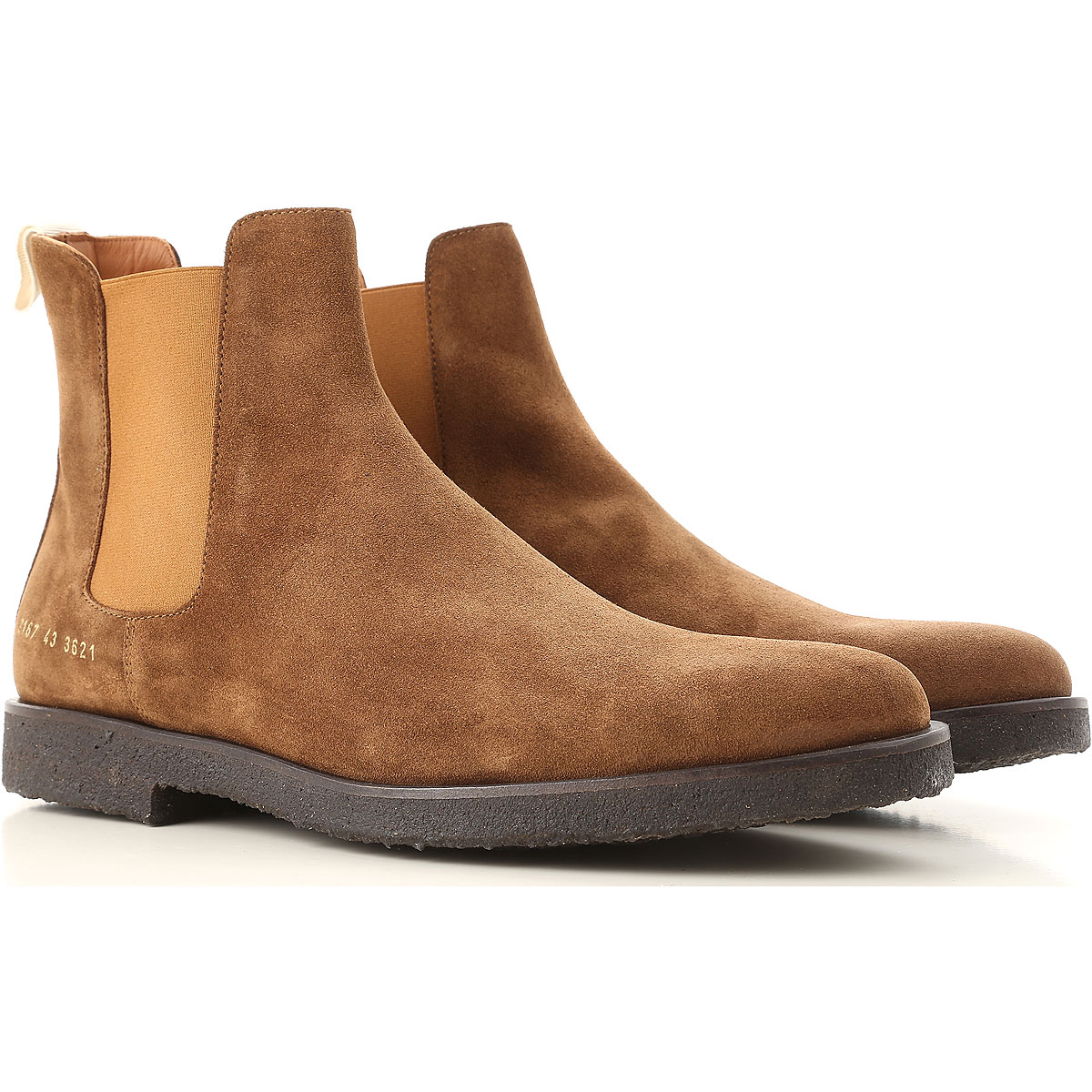 Image of Common Projects Boots for Men, Booties, Tobacco, suede, 2017, 10.5 6.5 7.5 8 9