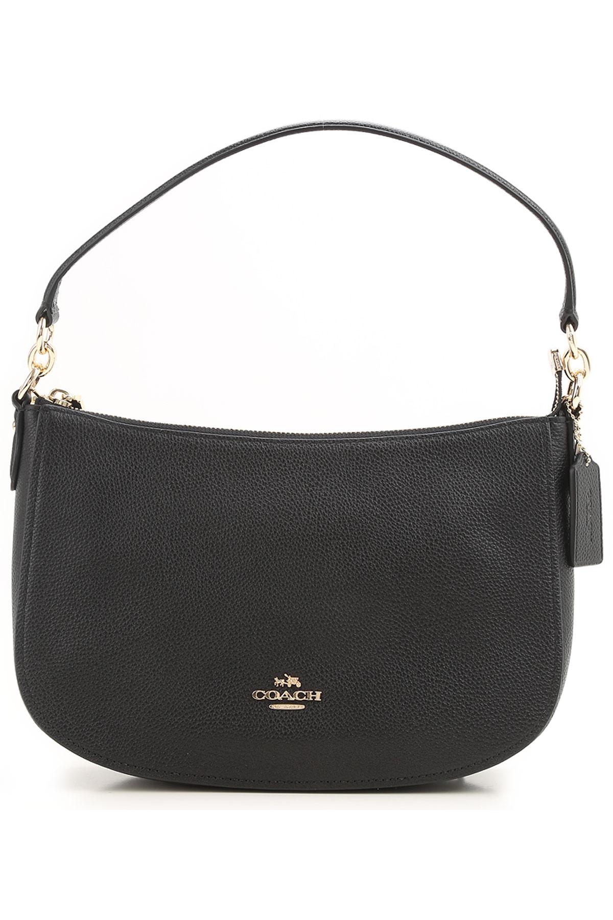 Image of Coach Shoulder Bag for Women, Black, Leather, 2017