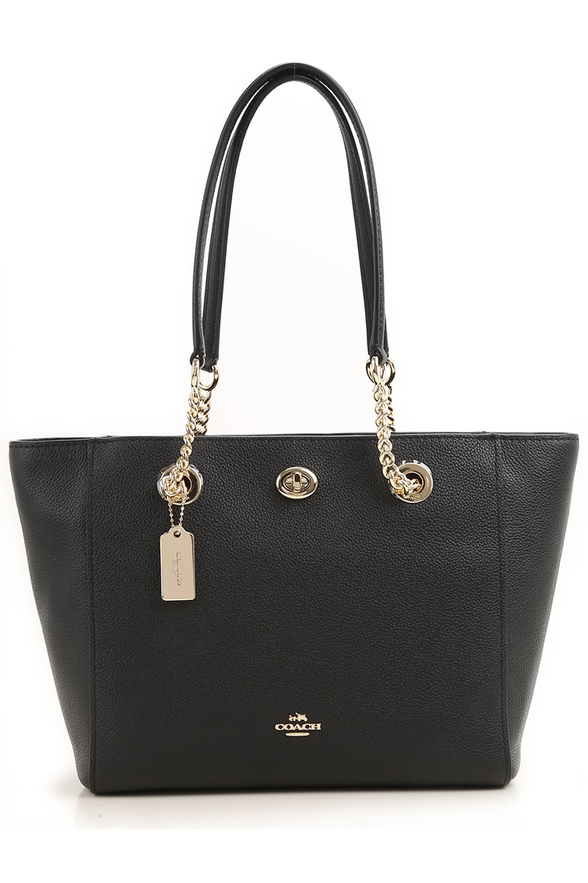 Coach Tote Bag On Sale, Black, Leather, 2019