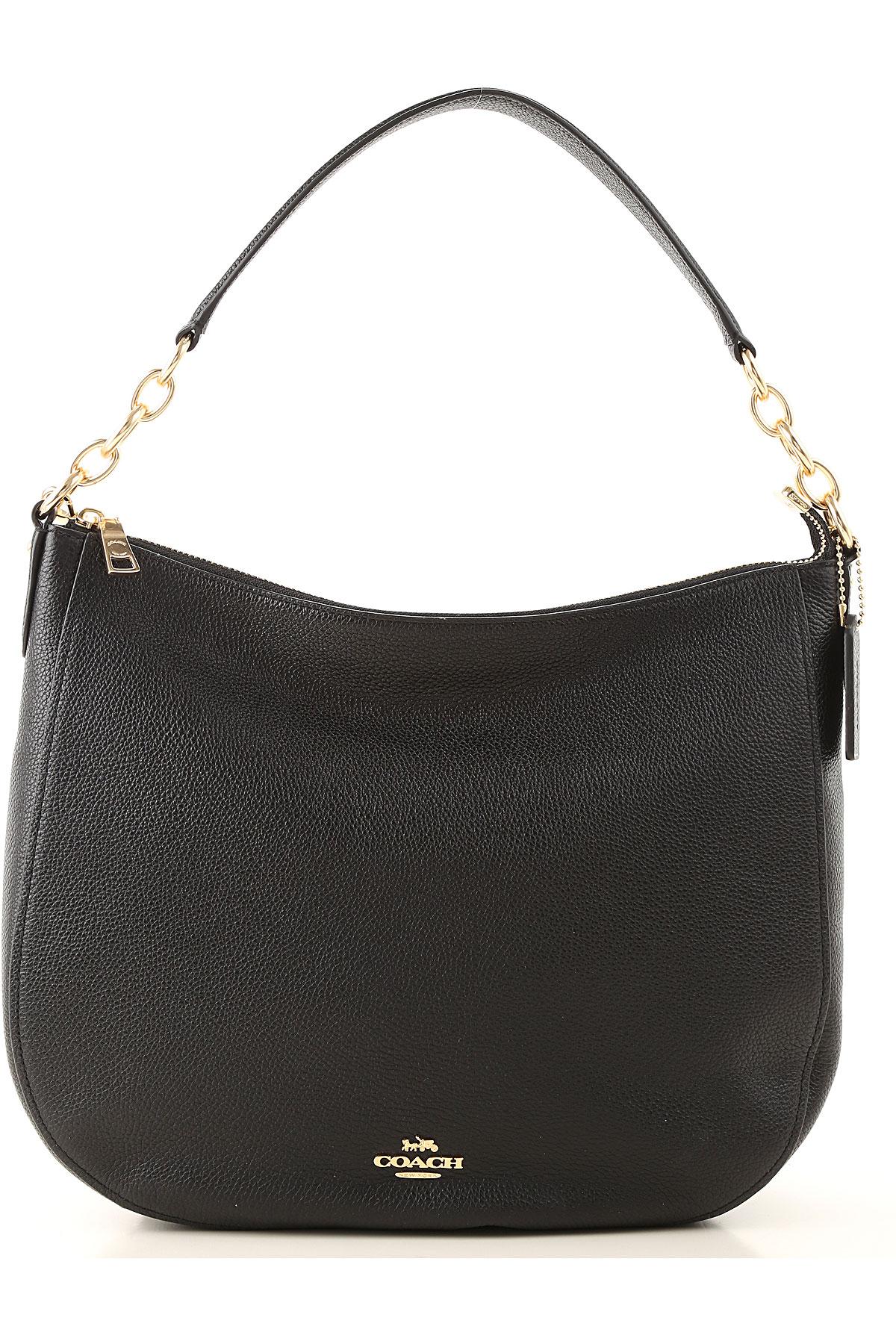 Coach Shoulder Bag for Women On Sale, Black, Leather, 2019