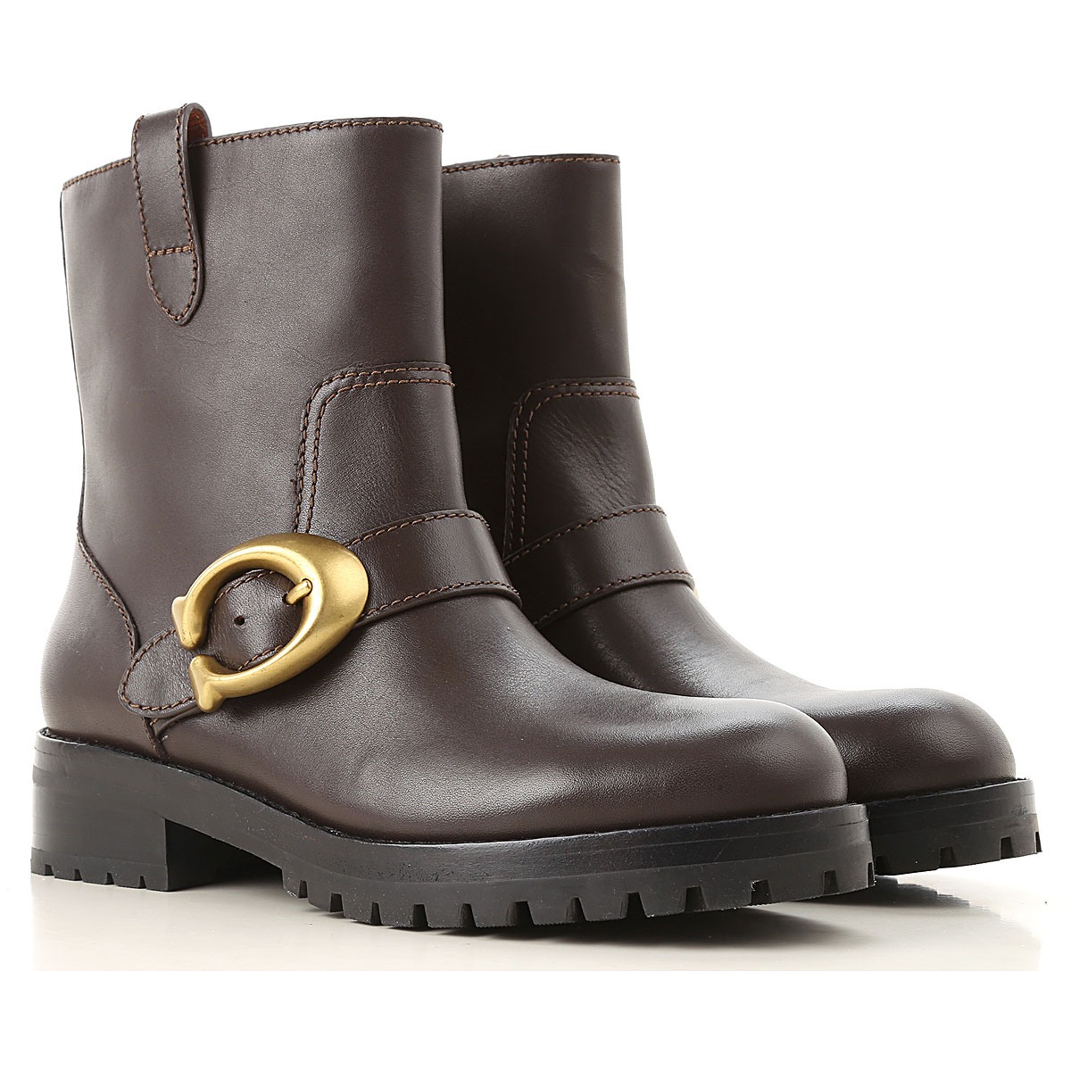 Image of Coach Boots for Women, Booties, Brown, Leather, 2017, 10 6 6.5 7 8 8.5 9 9.5