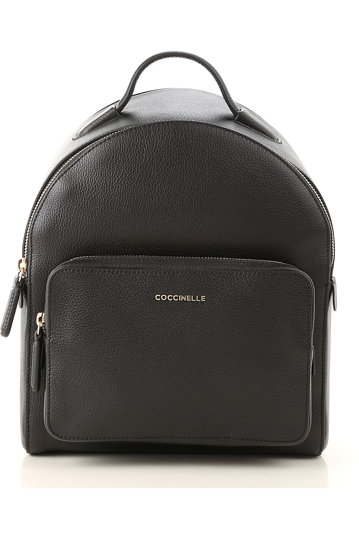 Image of Coccinelle Backpack for Women, Black, Leather, 2017