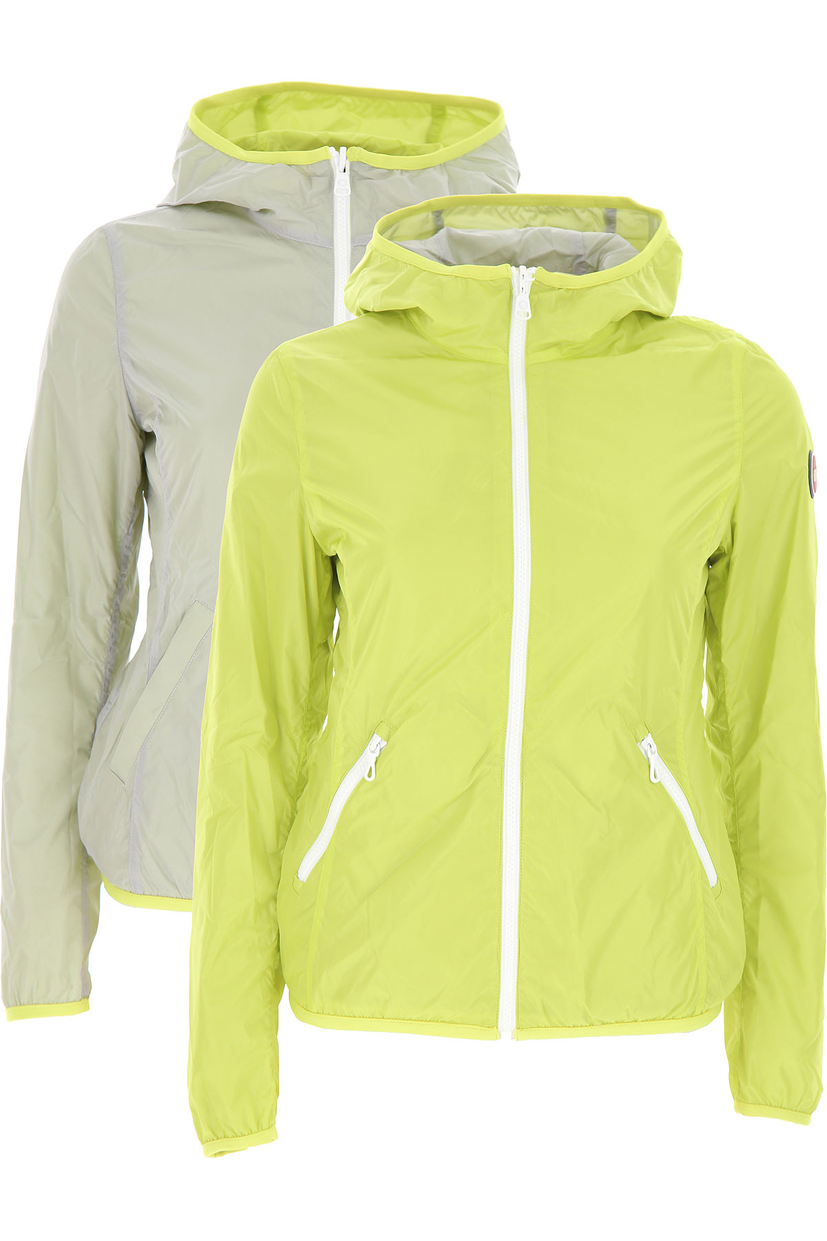 Colmar Jacket for Women On Sale, Acid Yellow, polyester, 2019, 2 4 6