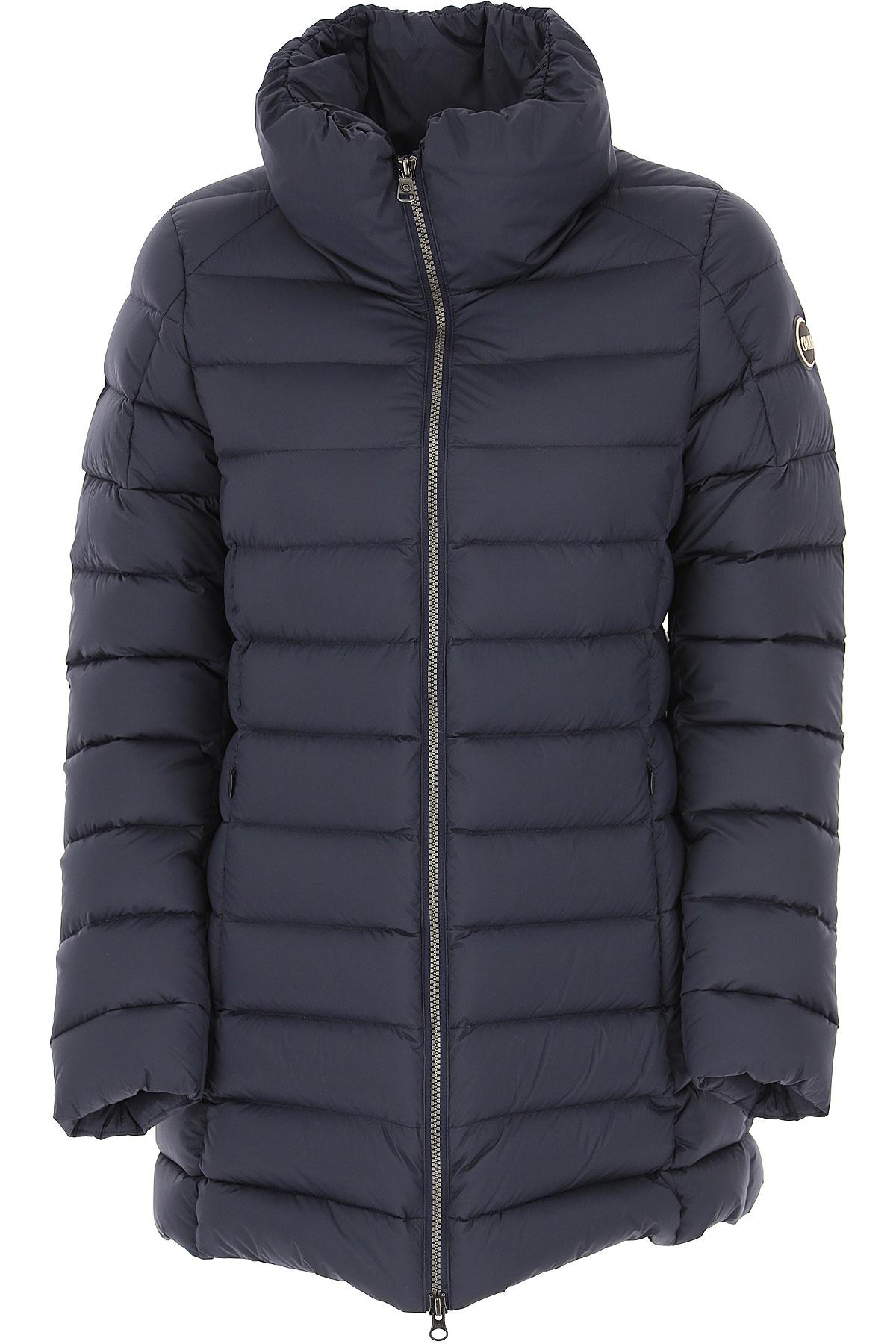 Colmar Down Jacket for Women, Puffer Ski Jacket, navy, polyamide, 2019, 2 4 6