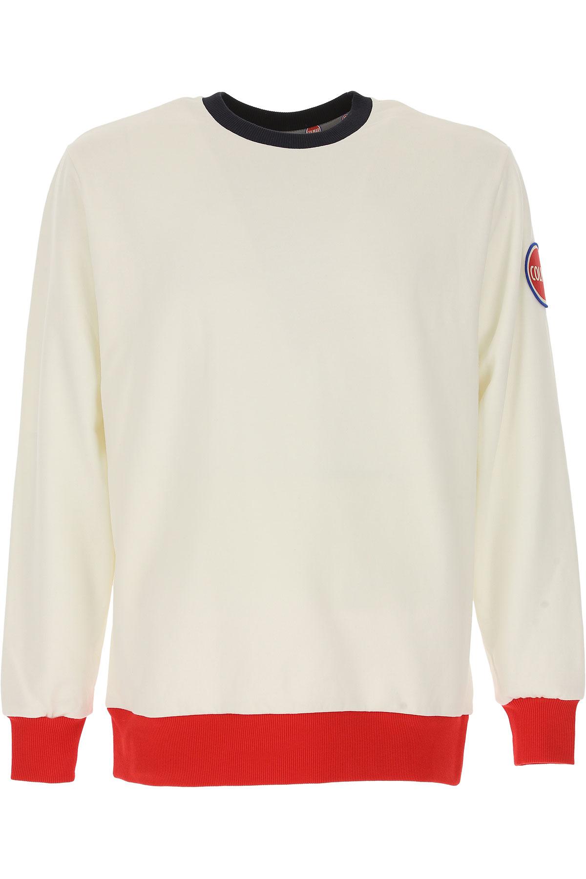 Colmar Sweatshirt for Men, White, Cotton, 2017, M S XL USA-472659