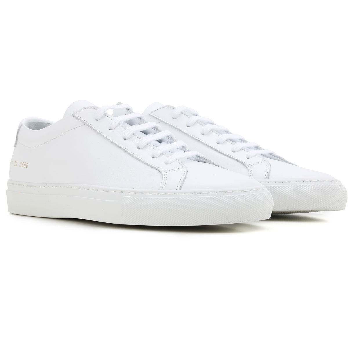 Image of Woman by Common Projects Sneakers for Women, White, Leather, 2017, 10 6 8 9