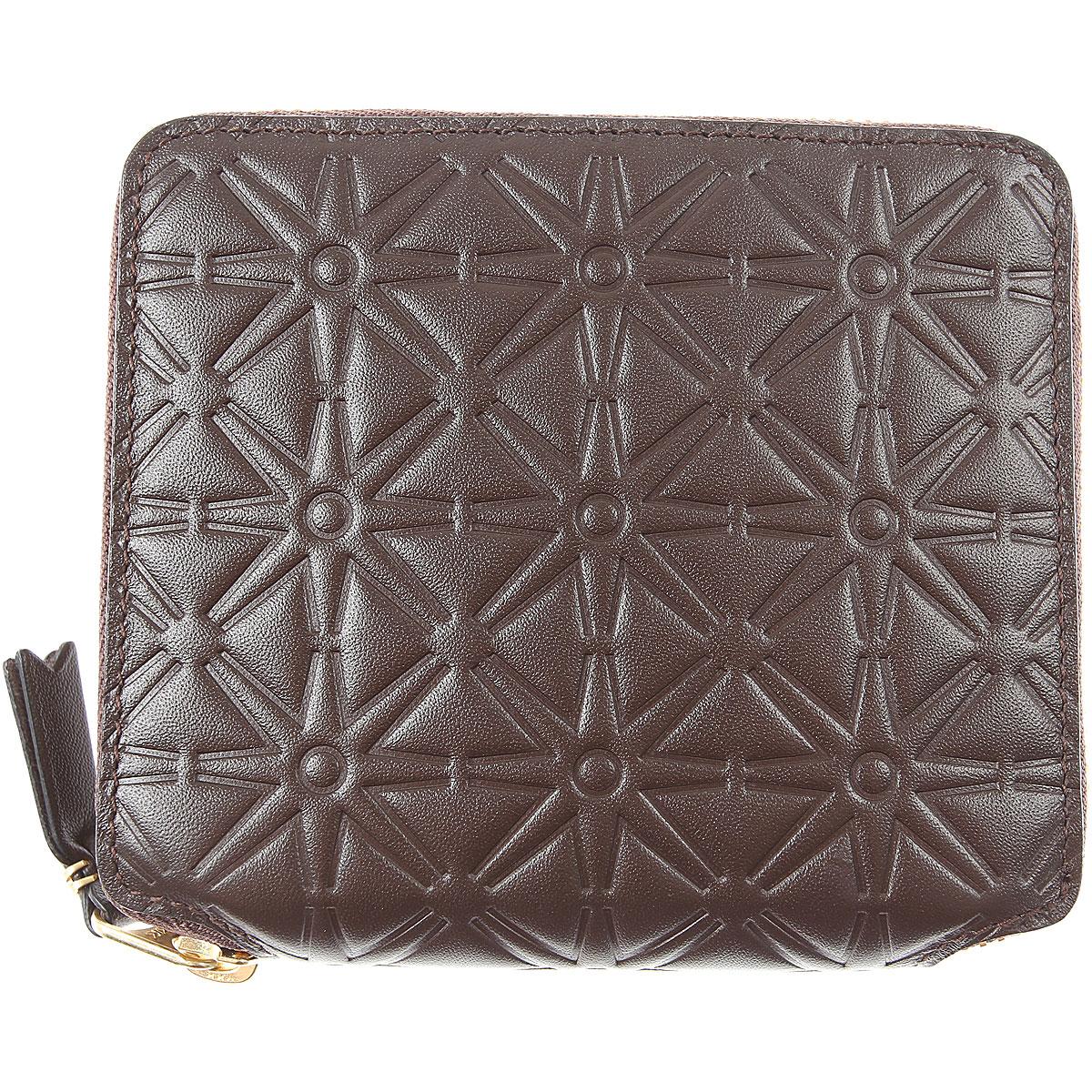 Comme des Garcons Wallet for Men On Sale, Dark Brown, Leather, 2019