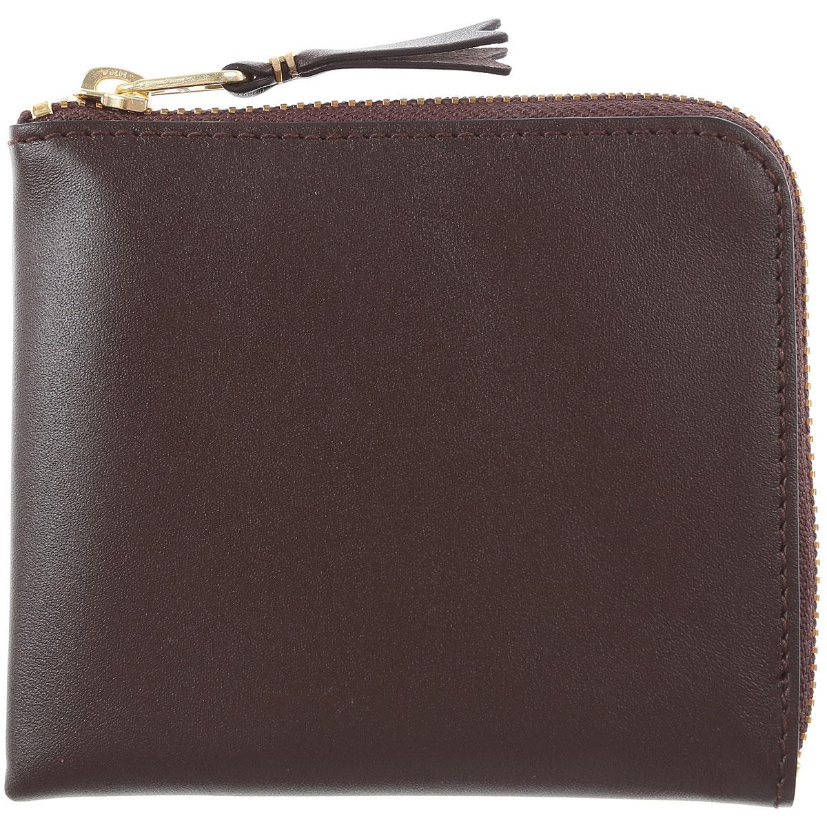 Comme des Garcons Wallet for Men On Sale, Brown, Leather, 2019