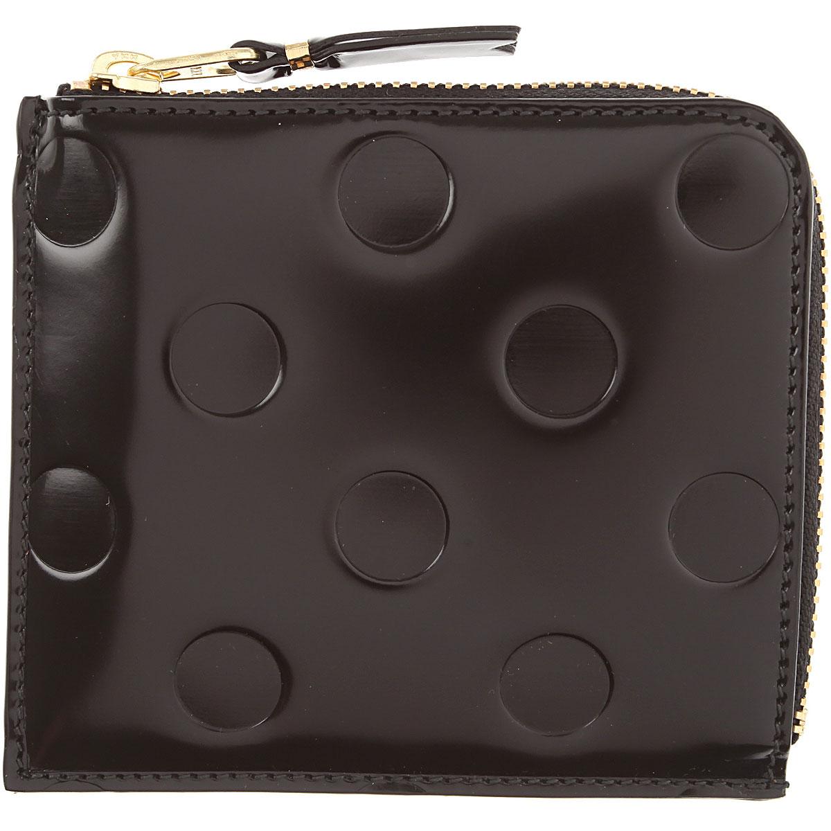 Comme des Garcons Wallet for Men On Sale, Black, Patent, 2019