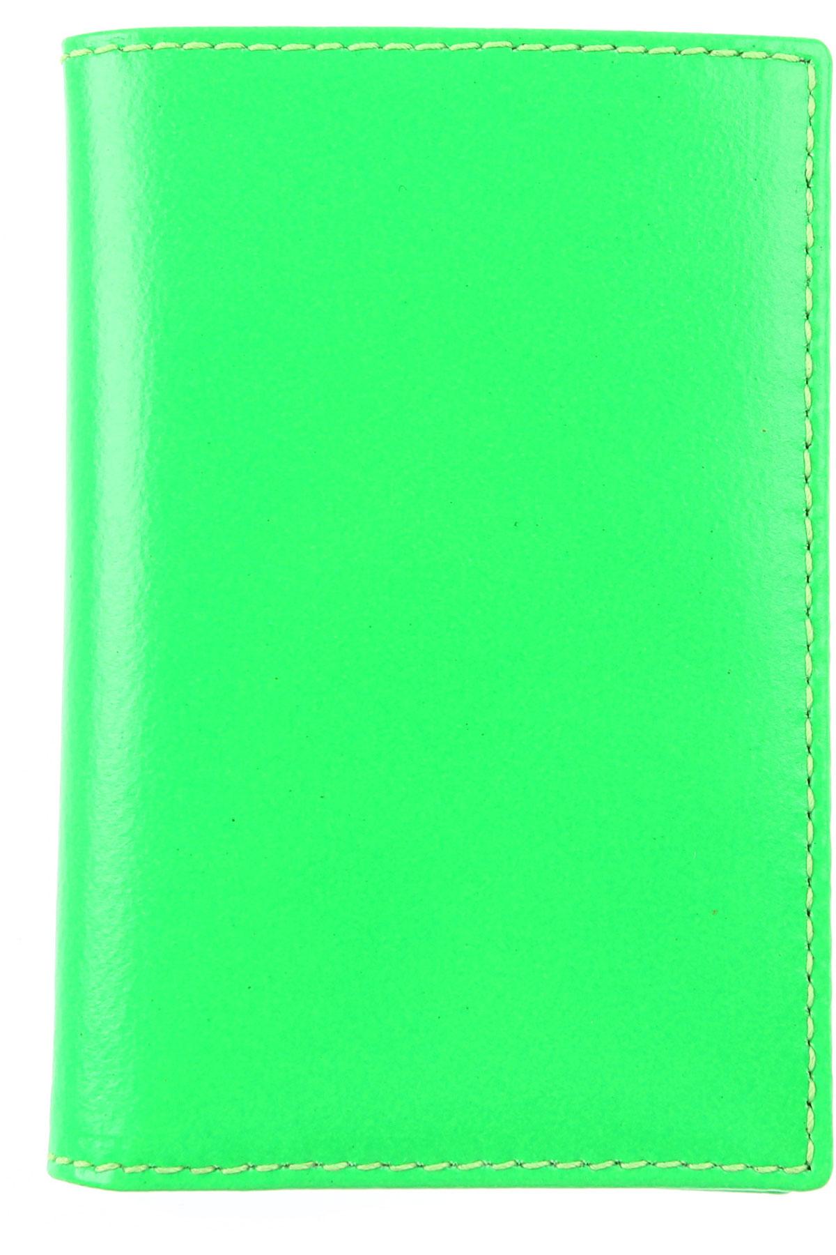 Comme des Garcons Card Holder for Men On Sale, Fluo Green, Leather, 2019