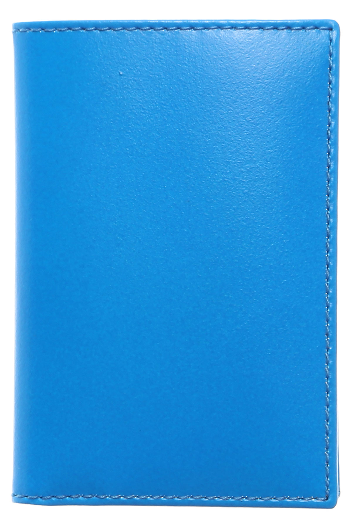 Comme des Garcons Card Holder for Women On Sale, Blue, Leather, 2019, one size One size