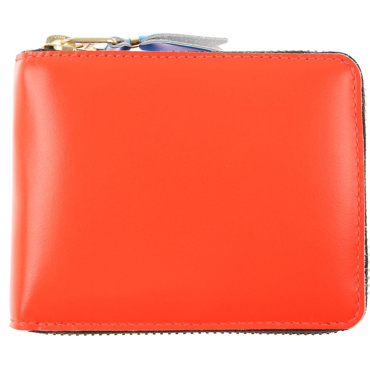 Comme des Garcons Wallet for Men On Sale, Fluo Orange, Leather, 2019