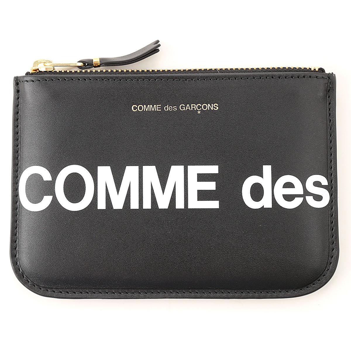 Comme des Garcons Wallet for Men On Sale, Black, Leather, 2019