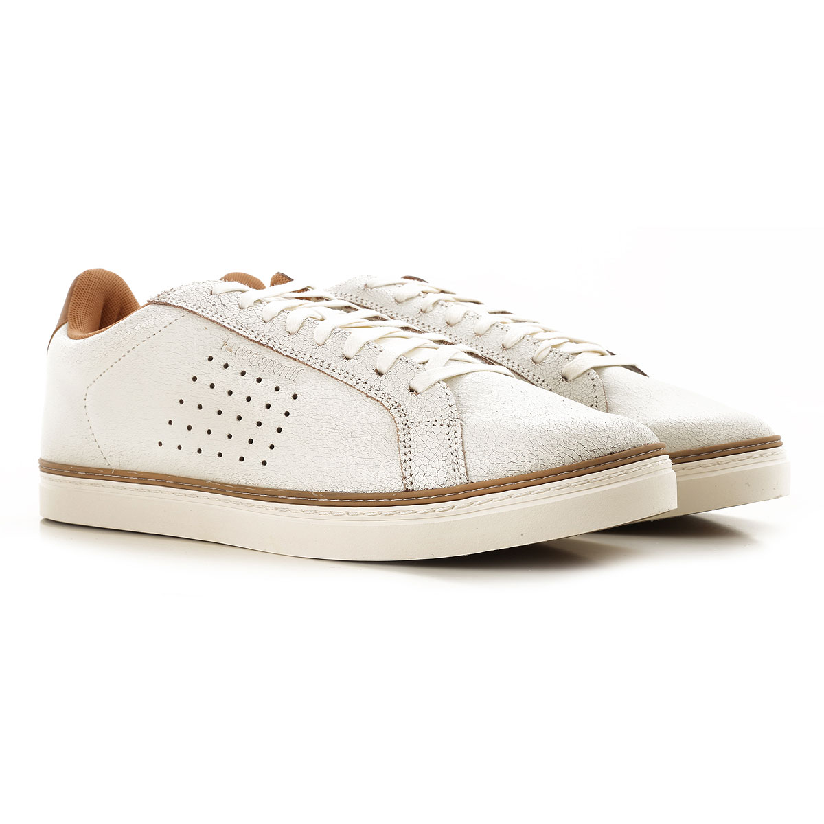 Image of Le Coq Sportif Sneakers for Men, White, Leather, 2017, 10 8 9