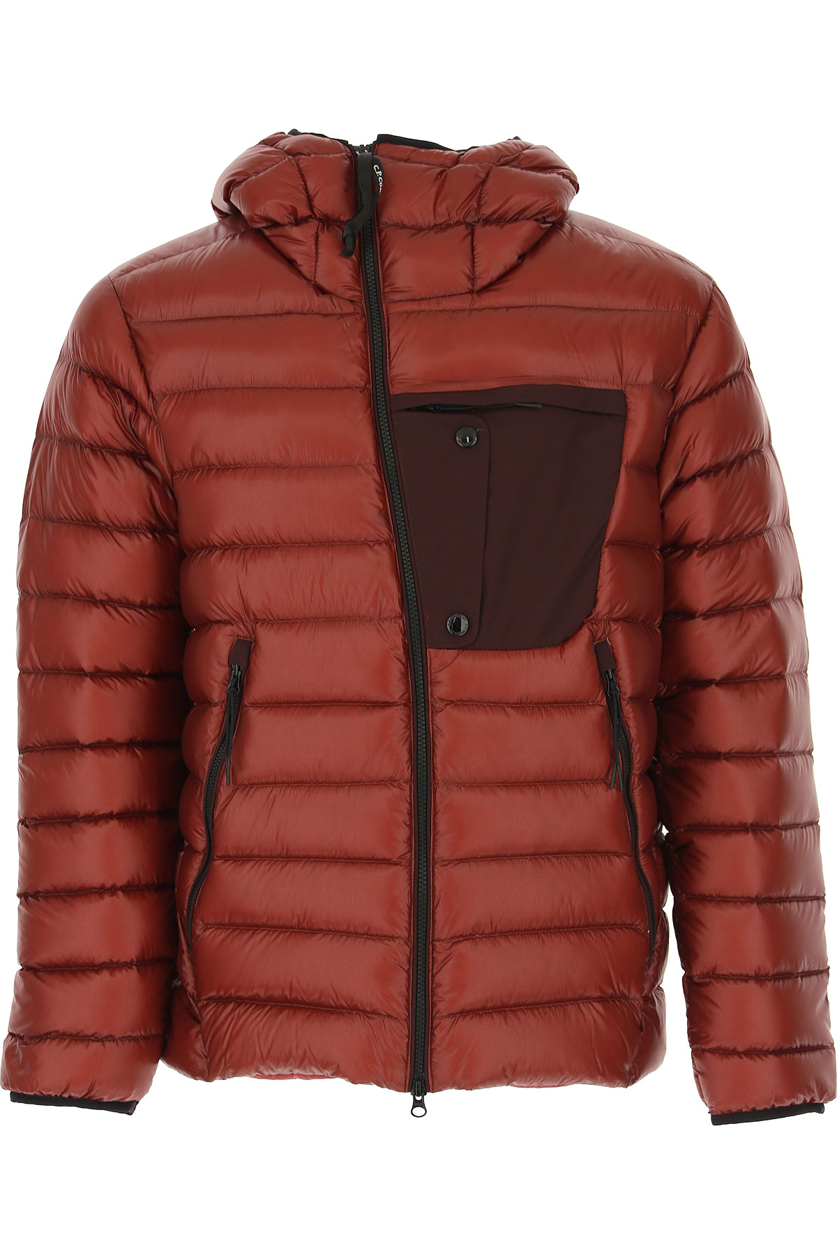 C.P. Company Down Jacket for Men, Puffer Ski Jacket On Sale, Bordeaux Red, polyamide, 2019, L XL