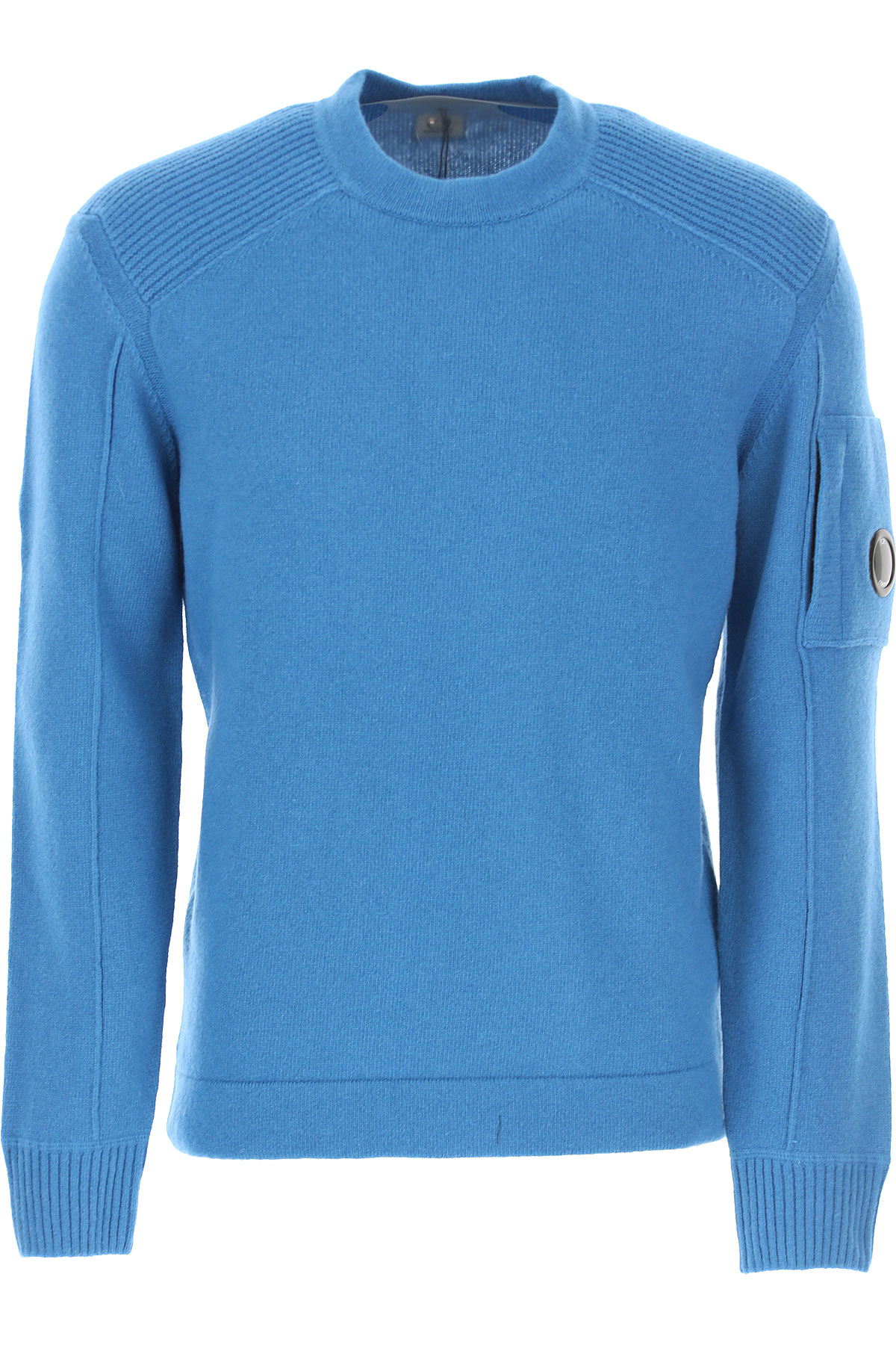 C.P. Company Sweater for Men Jumper On Sale, Peacock Blue, Wool, 2019, L M