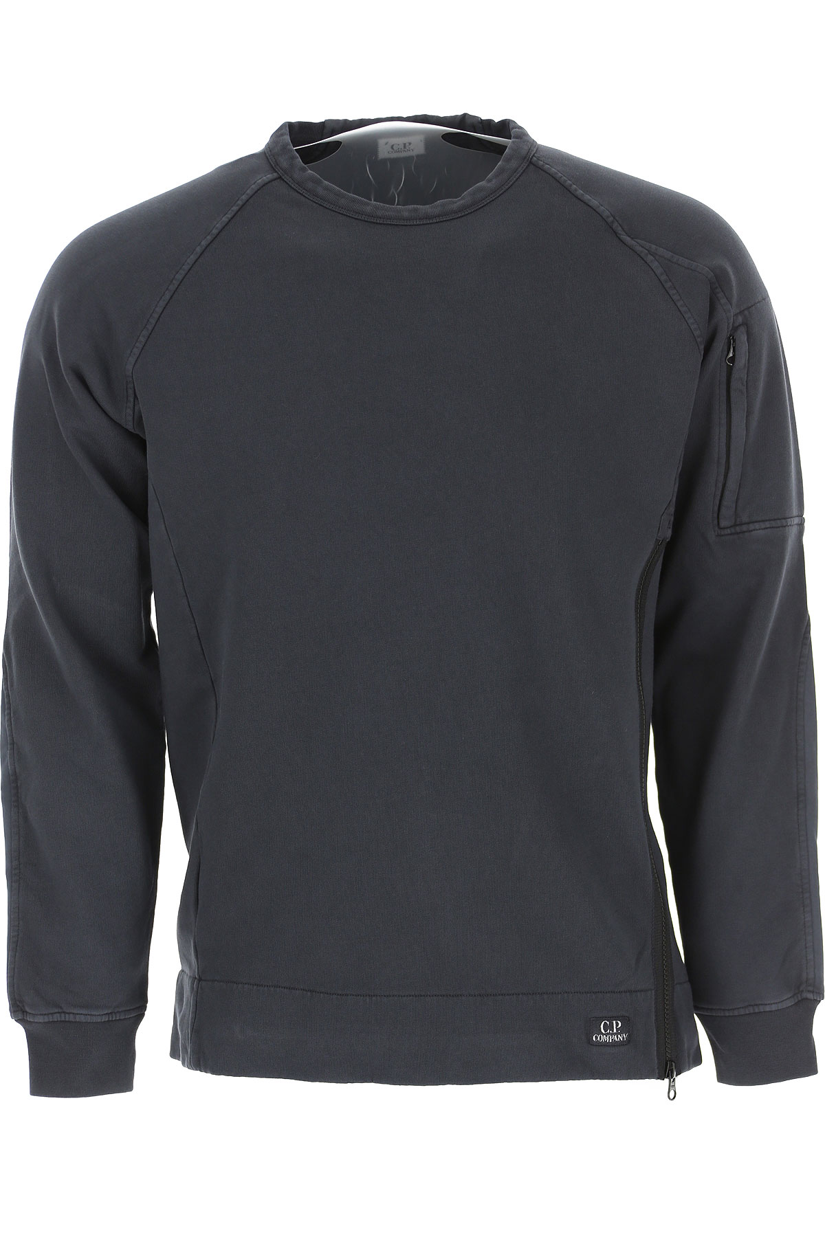 C.P. Company Sweatshirt for Men On Sale, Navy Blue, Cotton, 2019, S XL