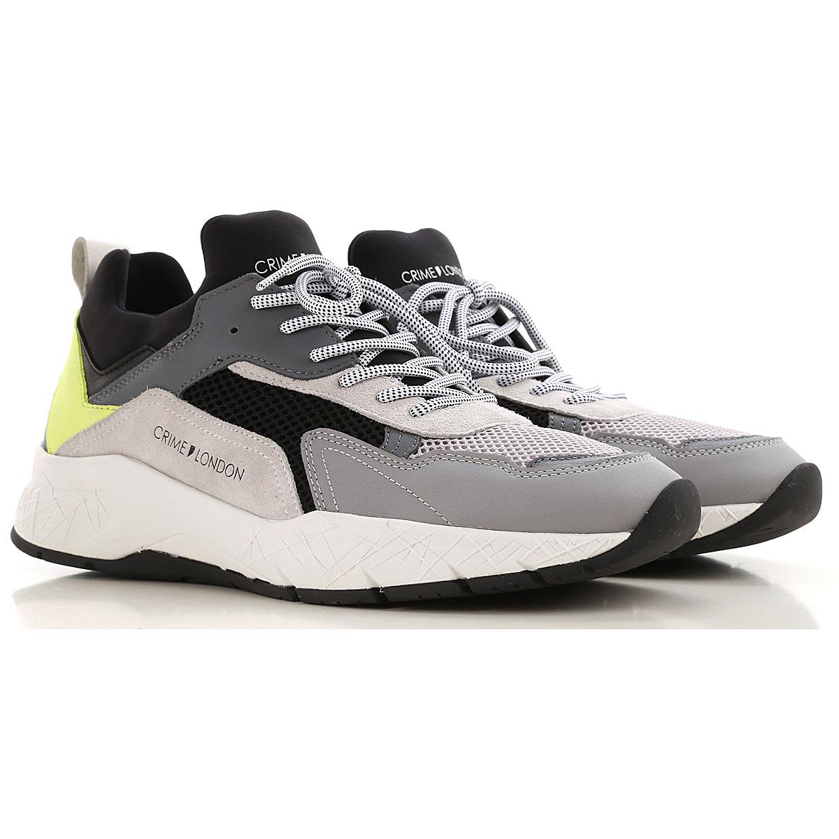 Crime Sneakers for Men On Sale, Grey, Leather, 2019, 10 10.5 7.5 8 9