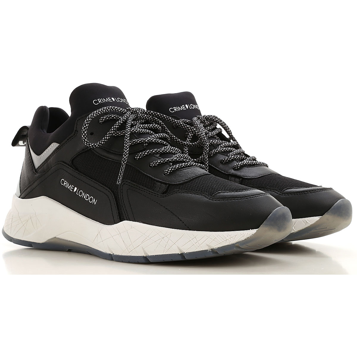 Crime Sneakers for Men On Sale, Black, Leather, 2019, 10 10.5 11.5 8
