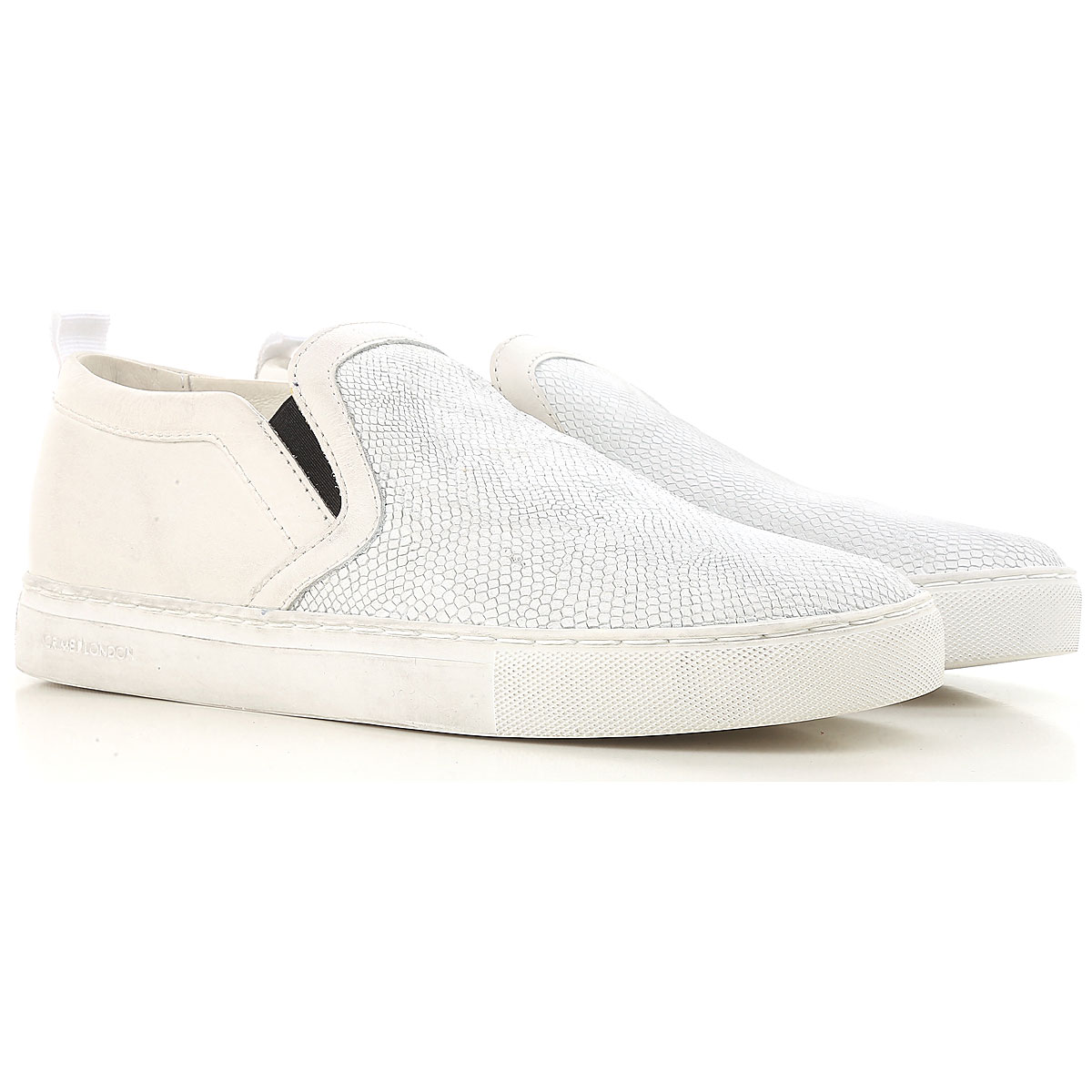 Image of Crime Slip on Sneakers for Men On Sale in Outlet, White, Leather, 2017, 10.5 7.5 8