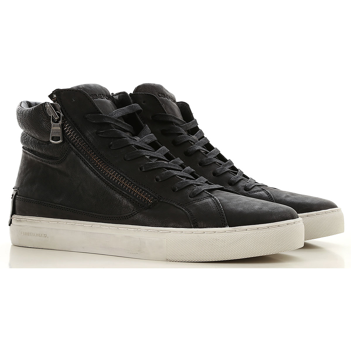 Image of Crime Sneakers for Men, Black, Leather, 2017, 10 10.5 11.5 7.5 8 9
