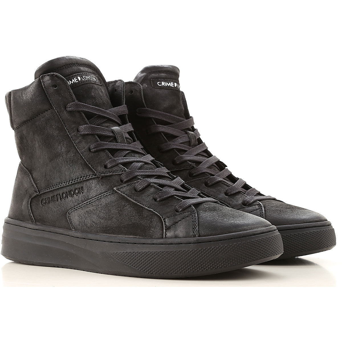 Crime Sneakers for Men On Sale, Black, Leather, 2019, 10 10.5 7.5 8 9