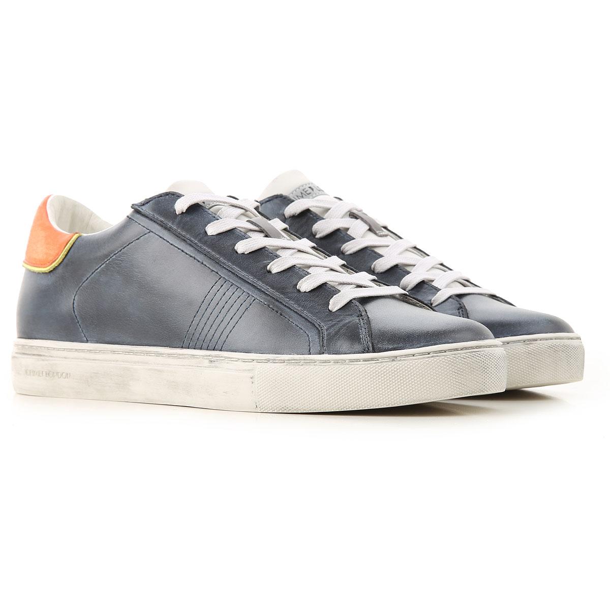 Crime Sneakers for Men On Sale, Blu Denim, Leather, 2019, 11.5 7.5 8 9