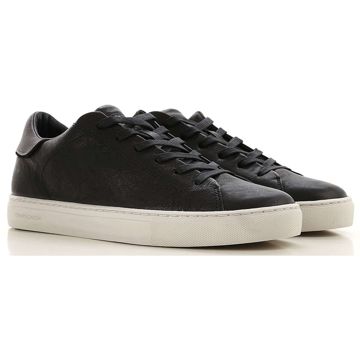 Crime Sneakers for Men On Sale, Black, Leather, 2019, 10 10.5 11.5 7.5 8