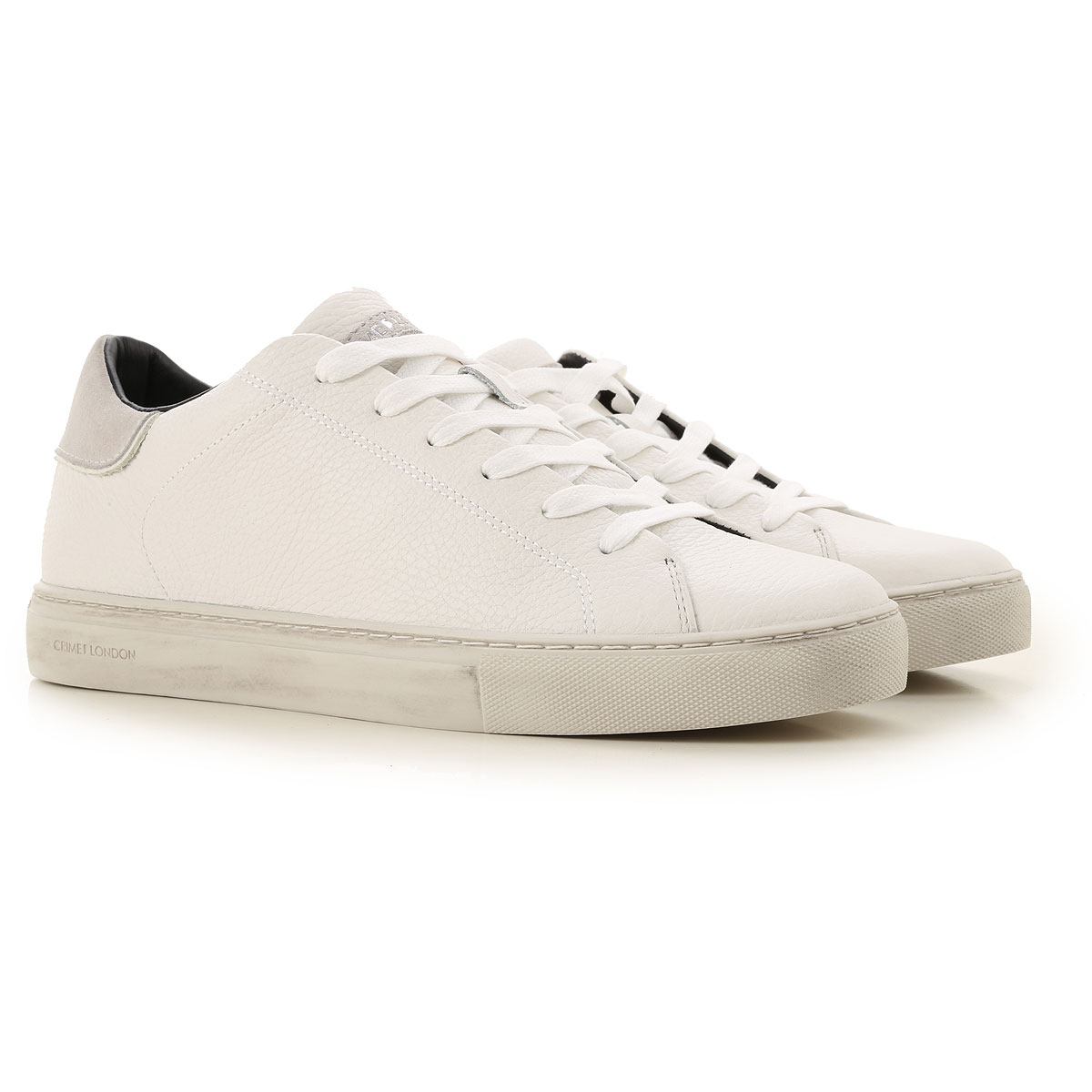 Crime Sneakers for Men On Sale, White, Crackle Leather, 2019, 10 10.5 9