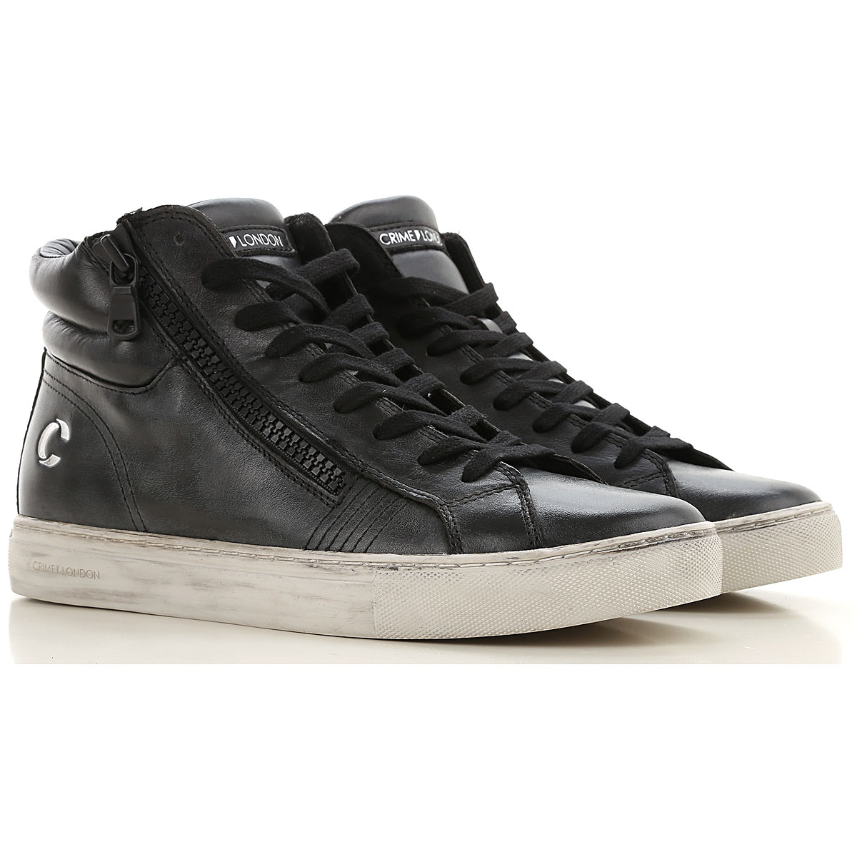 Crime Sneakers for Men On Sale, Black, Leather, 2019, 10 10.5 11.5 8 9