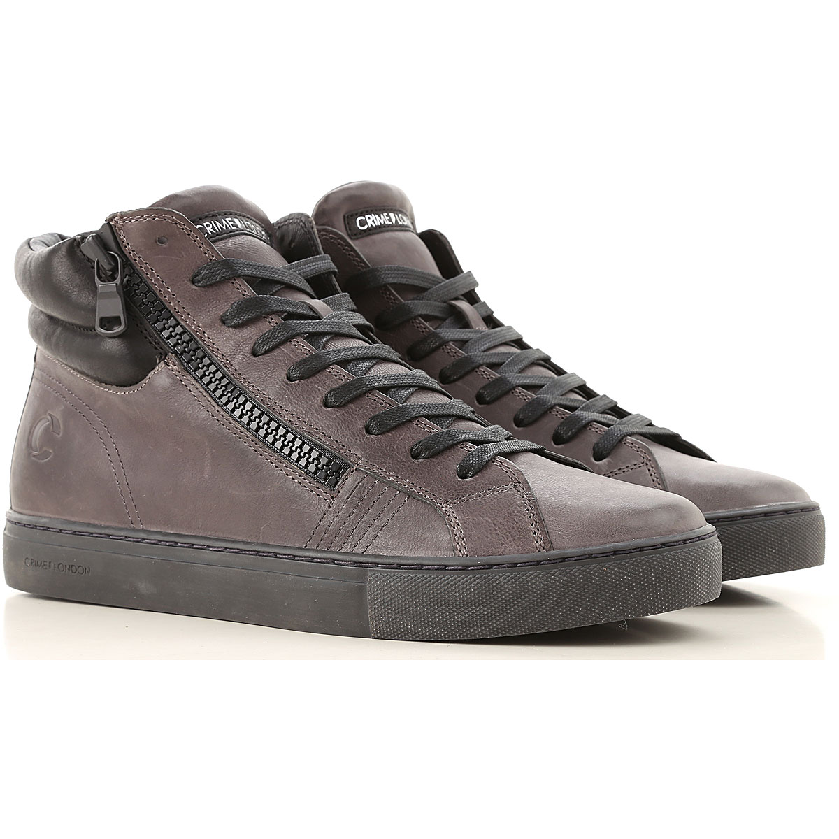 Crime Sneakers for Men On Sale, Dark Grey, Leather, 2019, 10 10.5 11.5 8 9