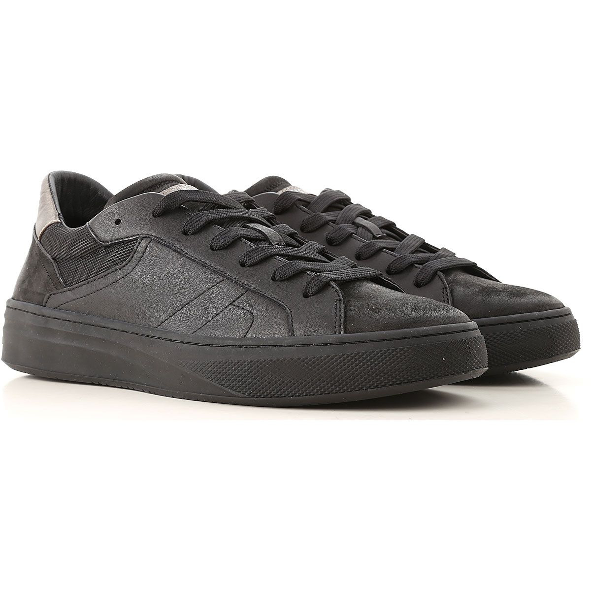 Image of Crime Sneakers for Men, Black, Leather, 2017, 10 8 9
