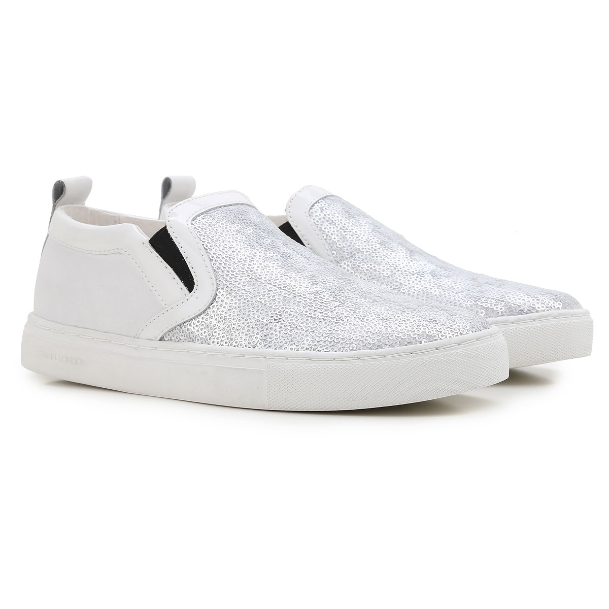 Image of Crime Slip on Sneakers for Women On Sale in Outlet, White, Leather, 2017, 10 8 9