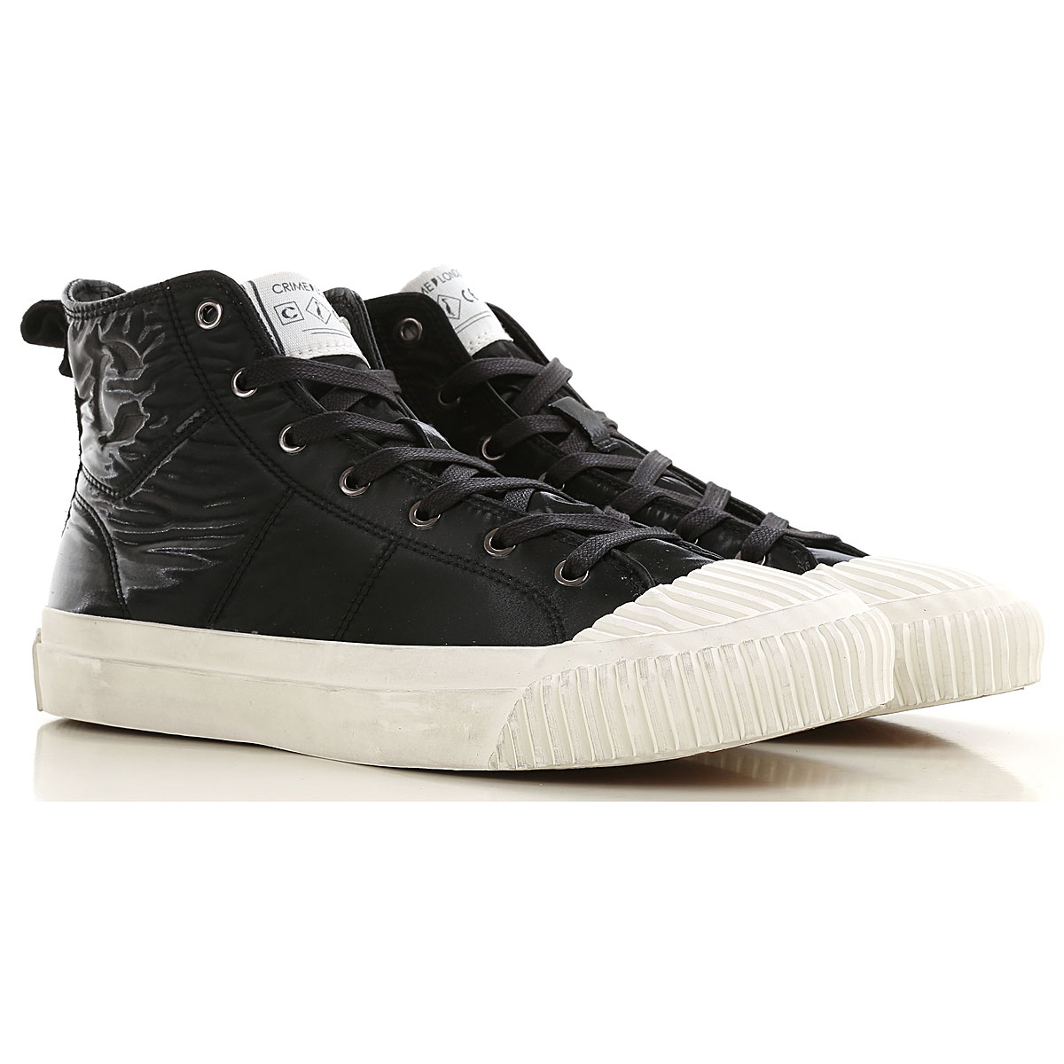 Crime Sneakers for Women On Sale, Black, Leather, 2019, 10 7 8
