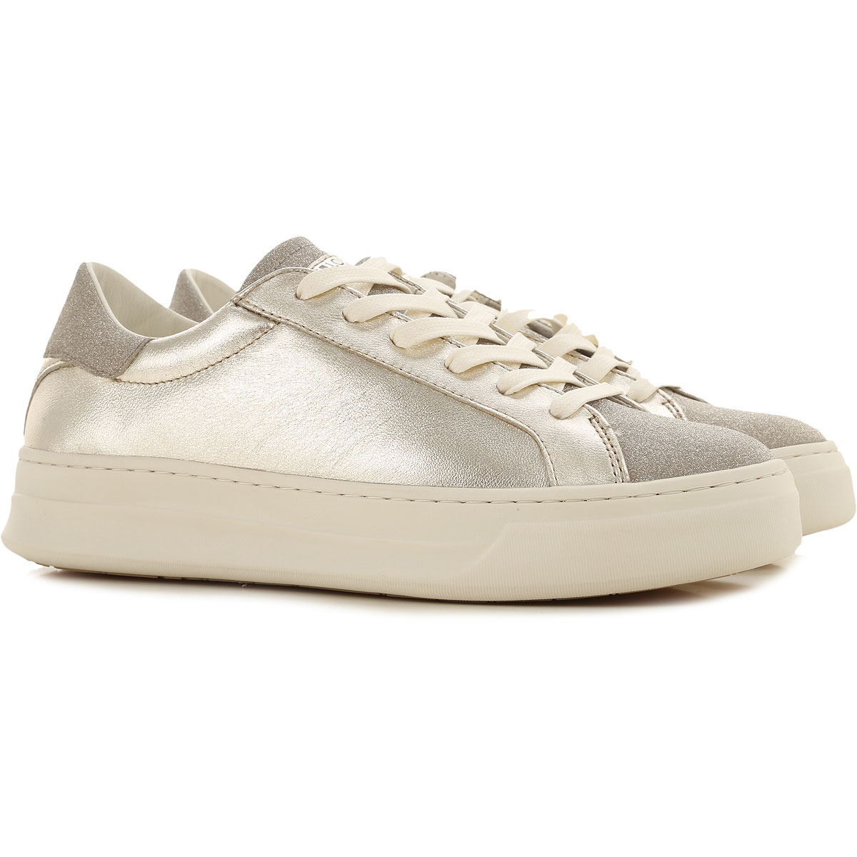 Crime Sneakers for Women On Sale, Platinum, Leather, 2019, 10 6 7 8 9