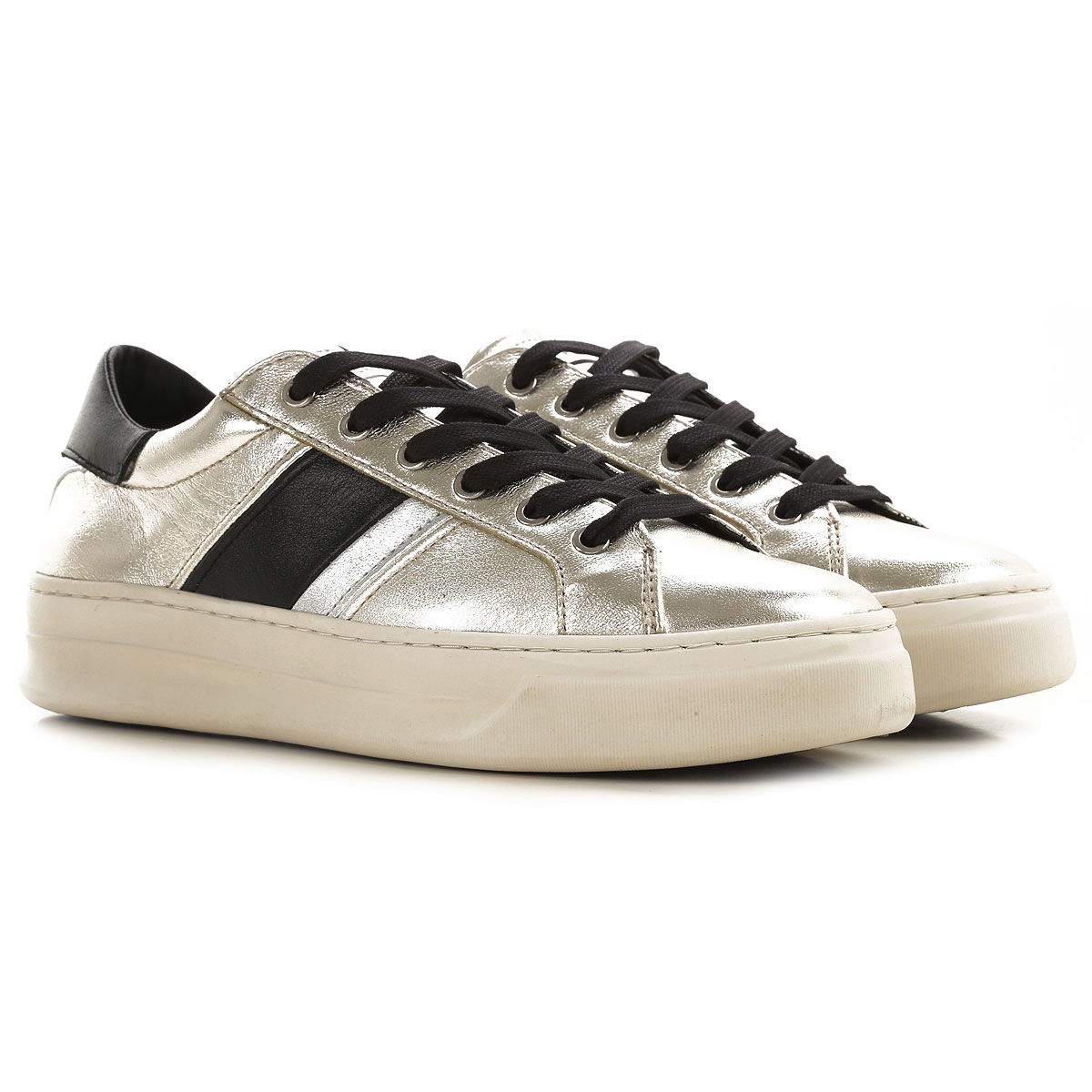 Crime Sneakers for Women On Sale, Metallic Silver, Leather, 2019, 10 6 7 8 9