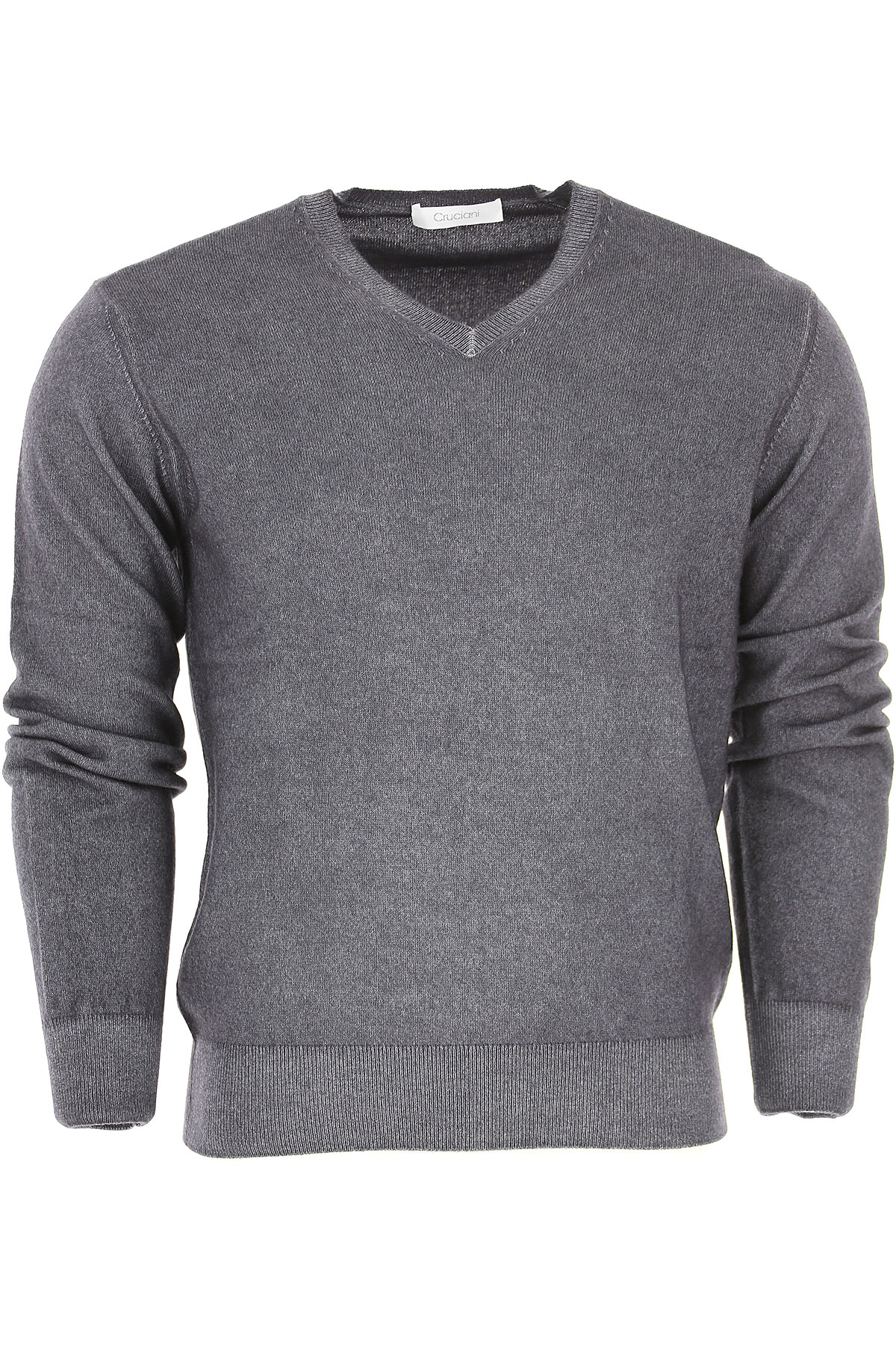 Image of Cruciani Sweater for Men Jumper, Anthracite, Cashemere, 2017, L M XL