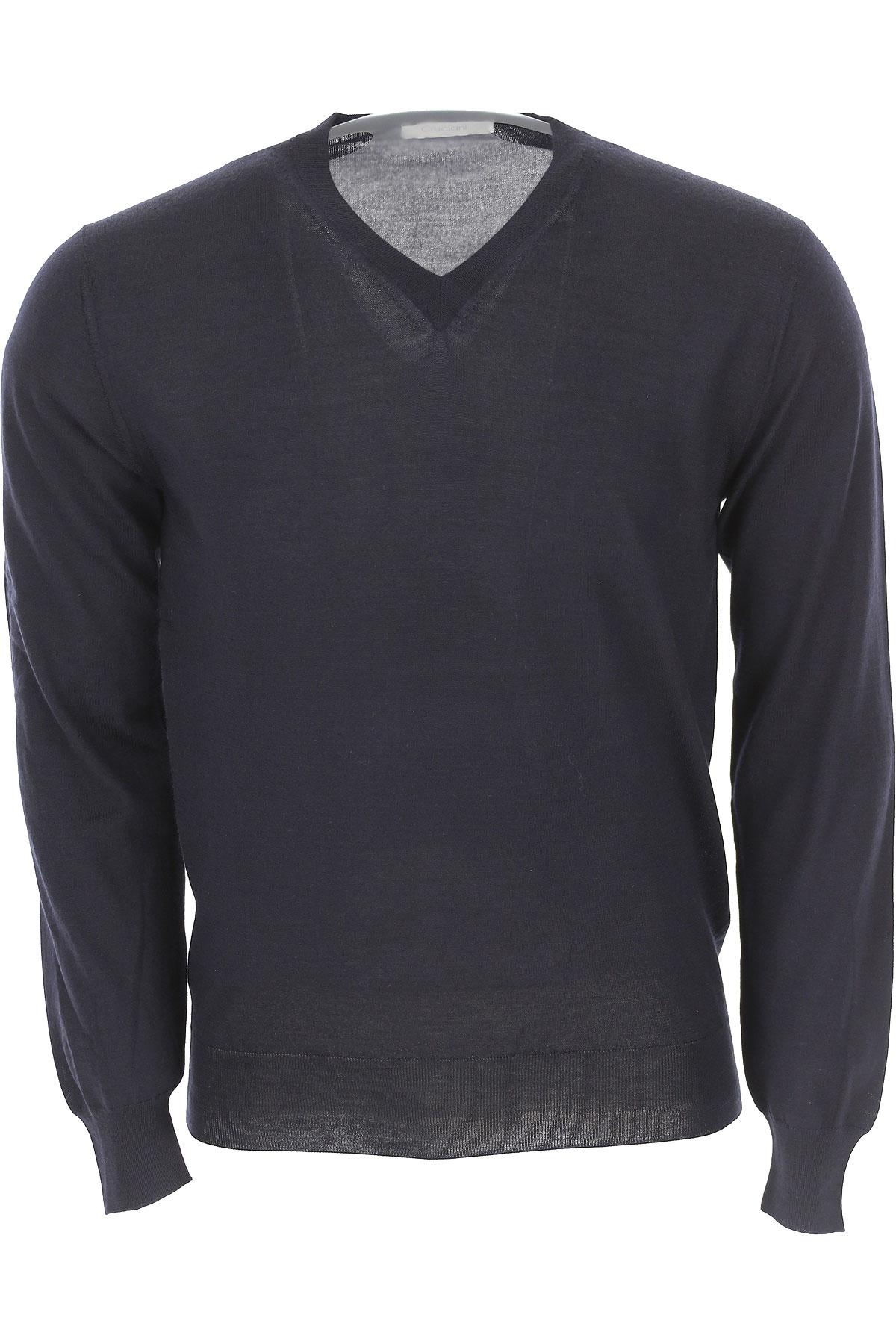 Image of Cruciani Sweater for Men Jumper, Blue Ink, Cashemere, 2017, L M XL