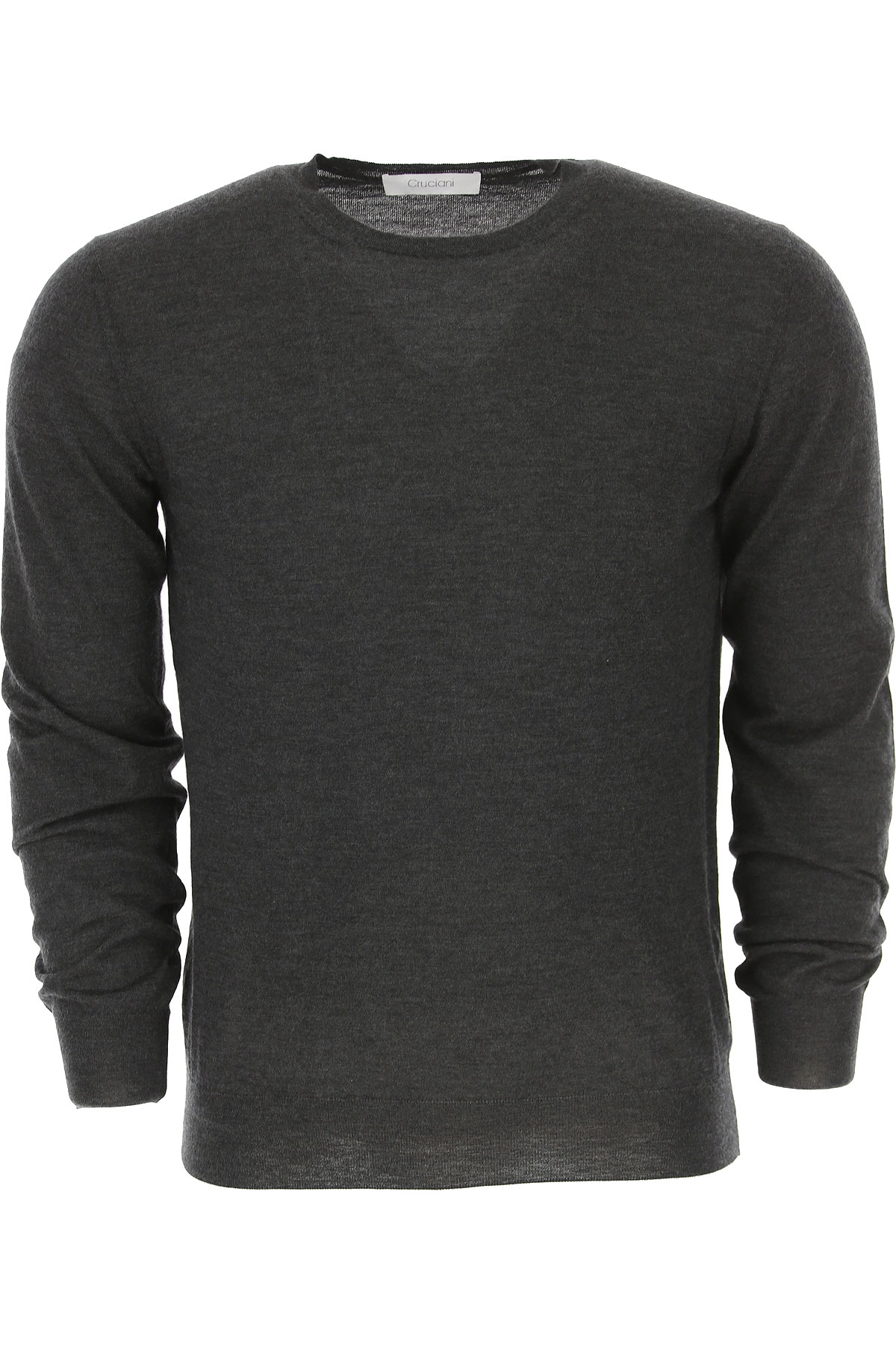 Image of Cruciani Sweater for Men Jumper, Anthracite Grey, Cashmere, 2017, L M XL