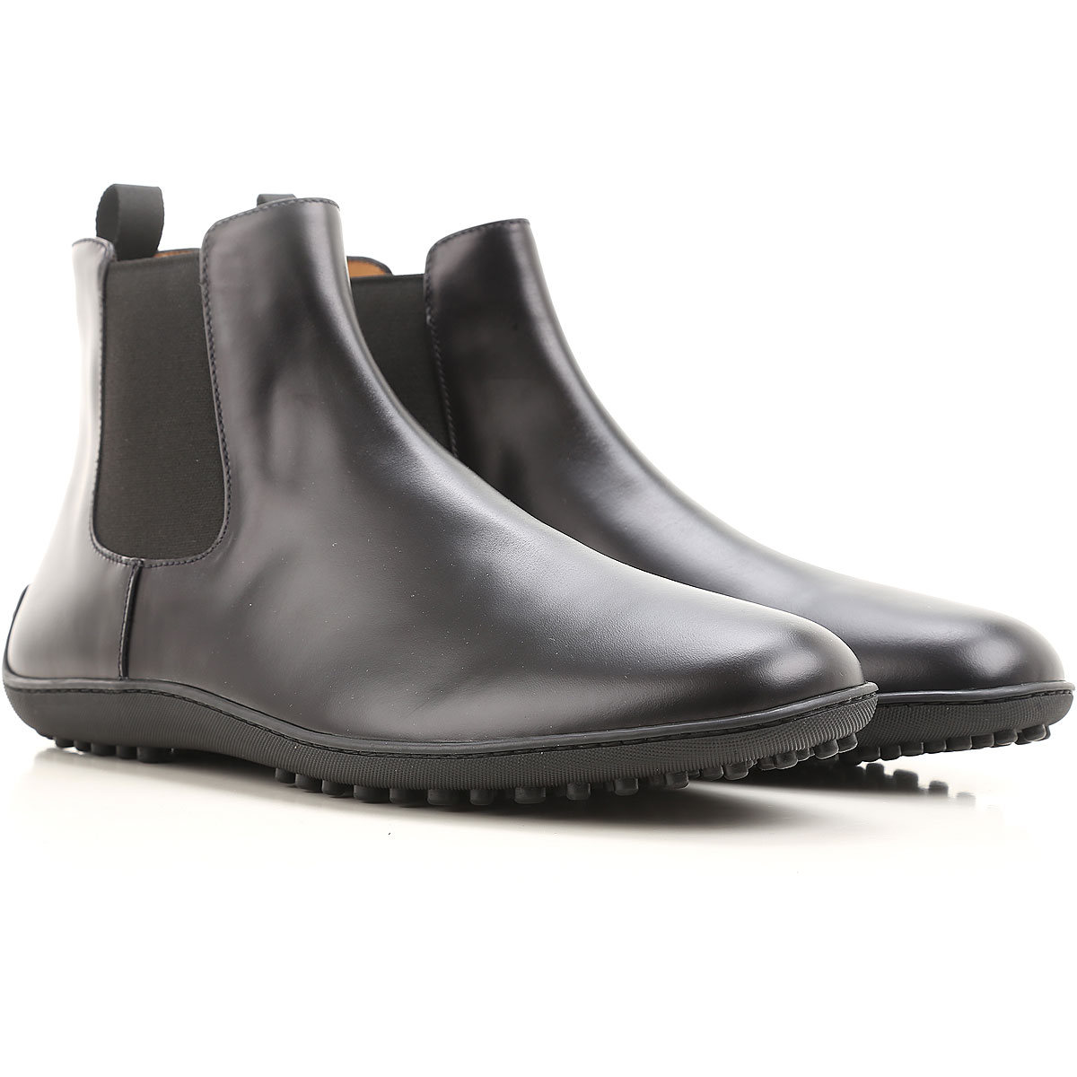 Image of Car Shoe Chelsea Boots for Men, Black, Leather, 2017, 7 8.5 9.5