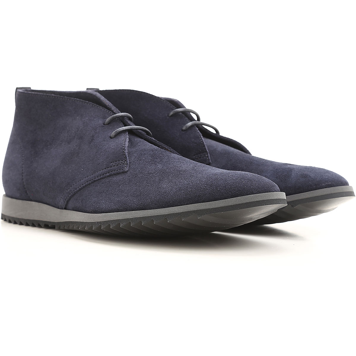 Image of Car Shoe Desert Boots Chukka for Men, Dark Blue, suede, 2017, 9 9.5