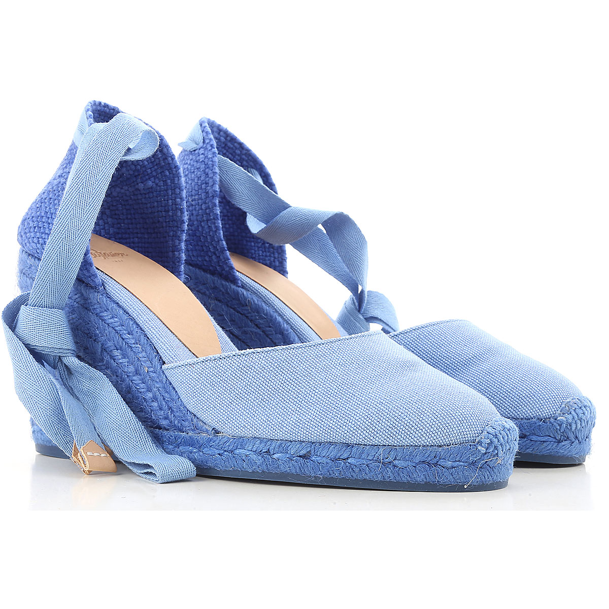 Castaner Wedges for Women On Sale, Azure, Canvas, 2017, 11 5
