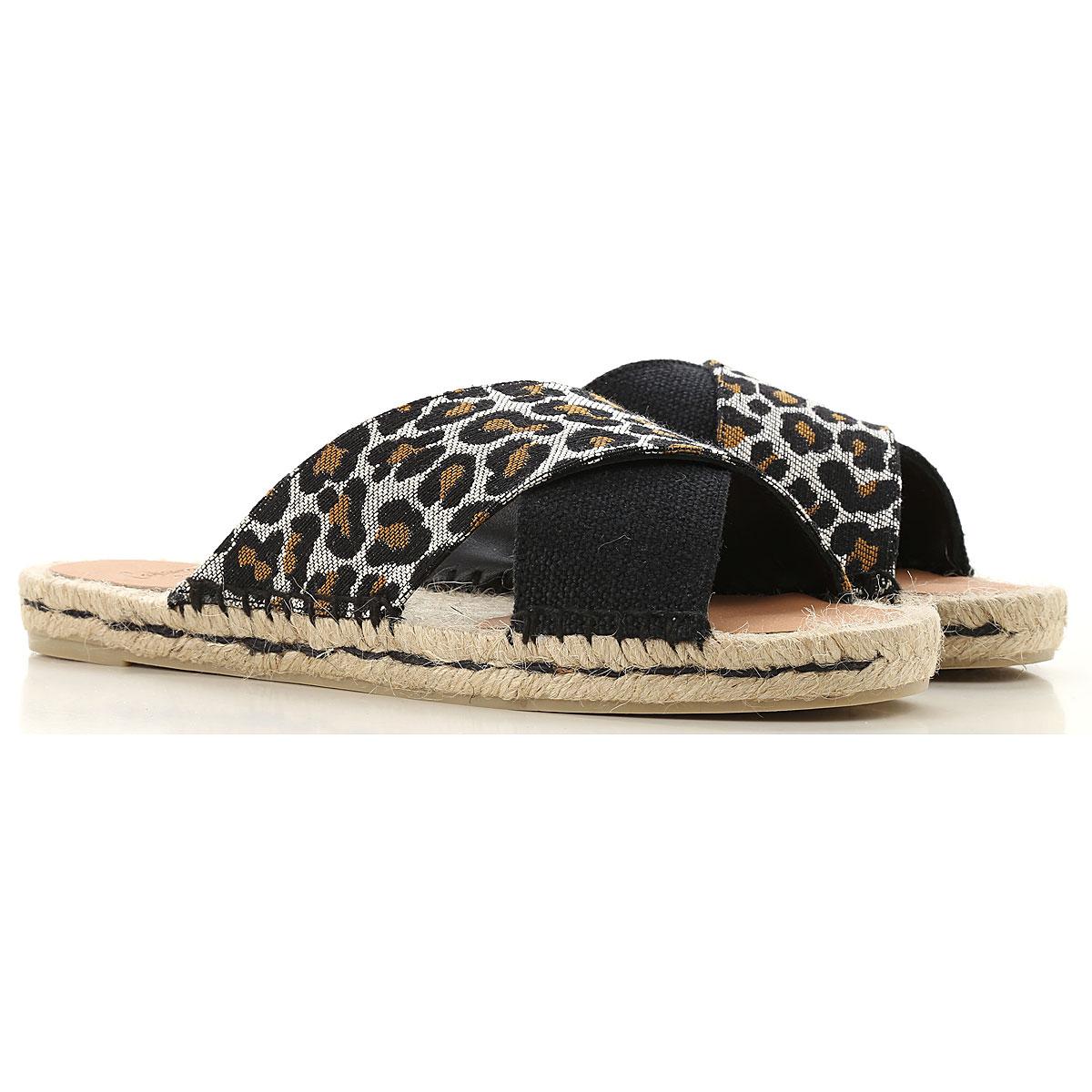 Castaner Sandals for Women On Sale in Outlet, Black, Canvas, 2019, 6